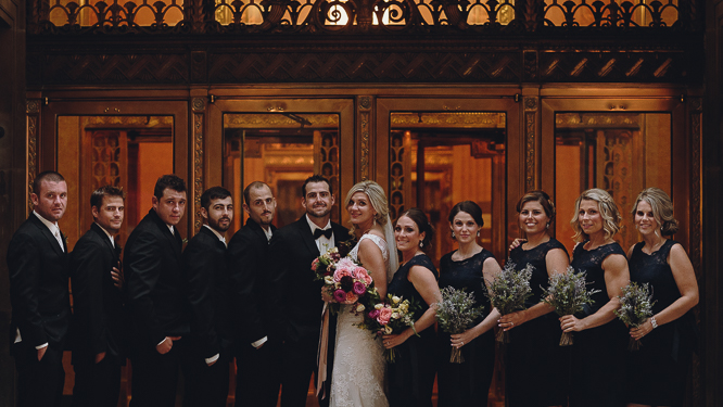 downtown toronto wedding bridal party photo ideas