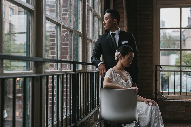 st lawrence market creative bride and groom portraits