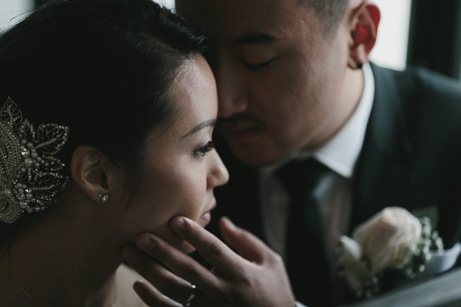 creative bride and groom portraits in small venues