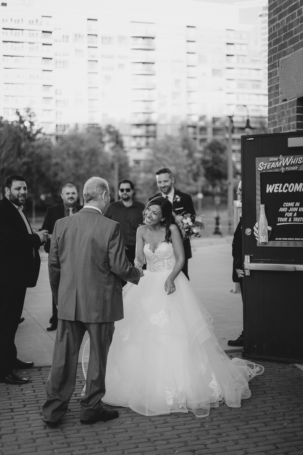 steamwhistle wedding candid photographer fall wedding