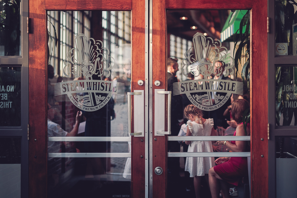 toronto steamwhistle wedding fall wedding