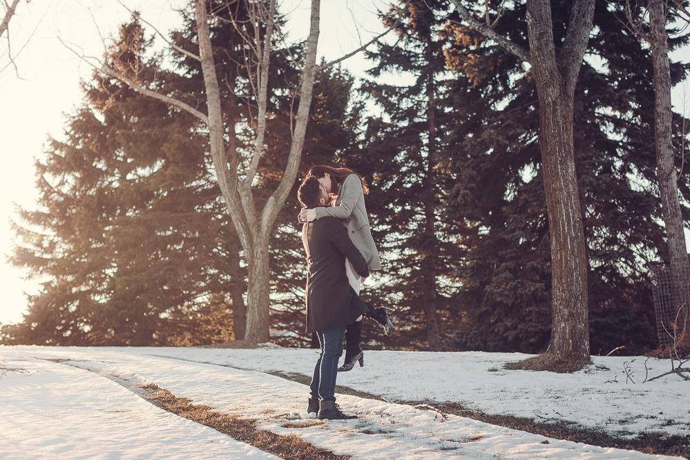winter pre wedding photos