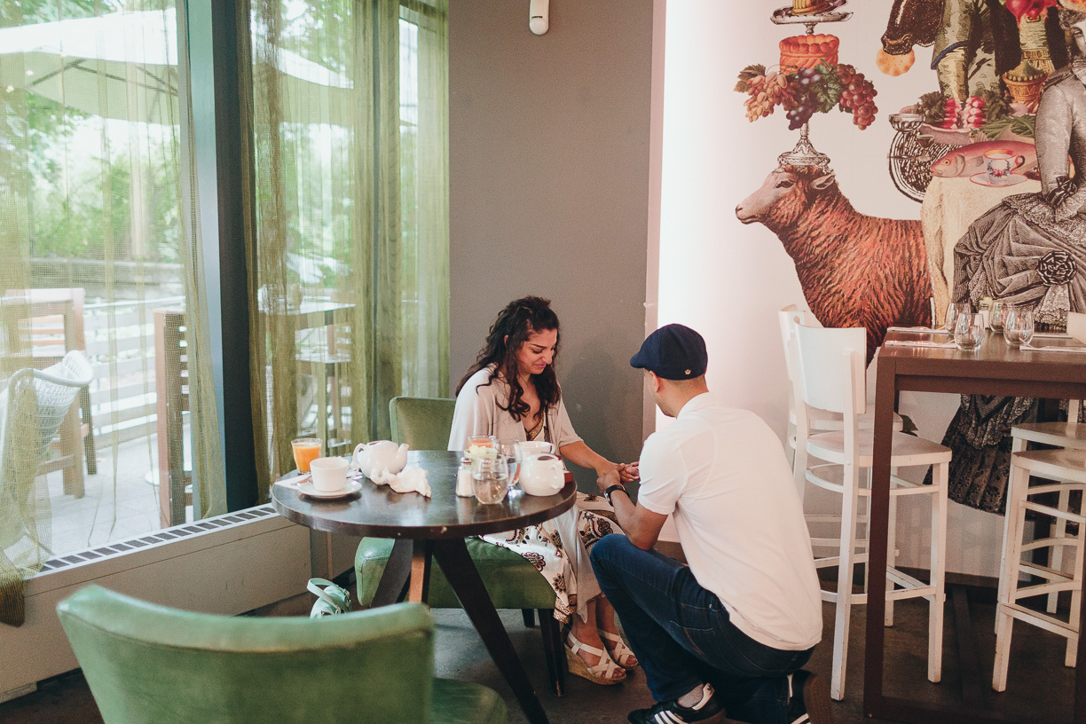 Mildred's Temple Kitchen Wedding Proposal Photographer
