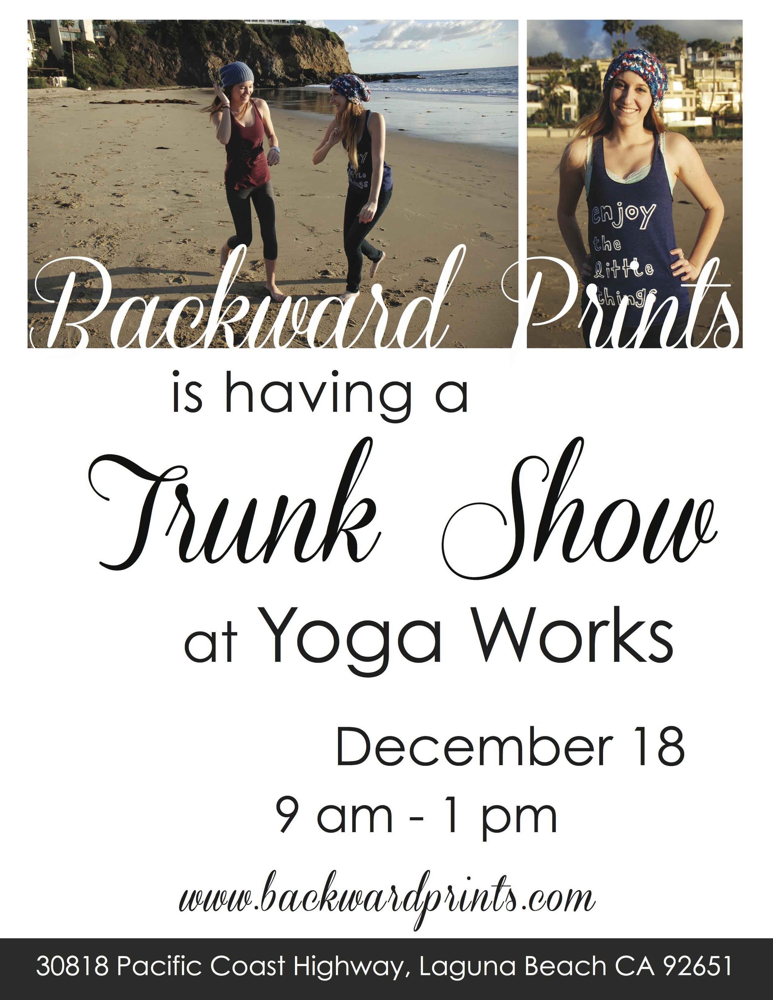 yoga works trunk show