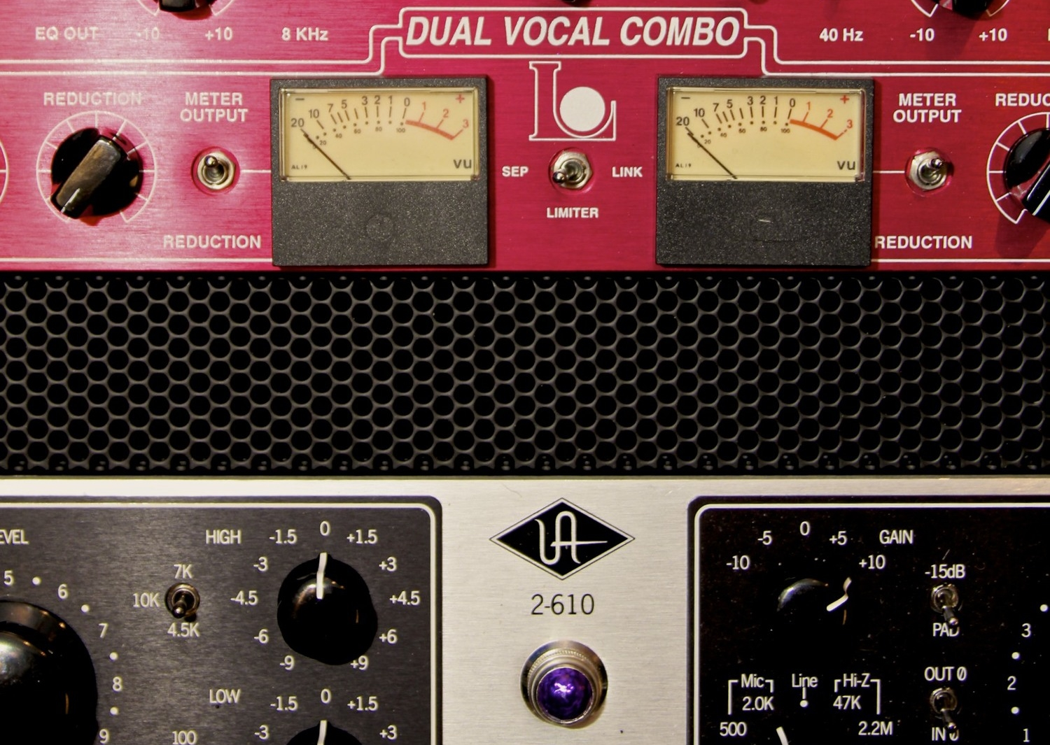 Langevin Dual Vocal Combo & Universal Audio 2-610 preamps