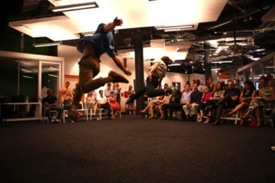 """BOOMERANG at the """"Under One Dances"""" Launch Party at Wix Lounge, New York City    Photograph by Kyla Ernst-Alper"""