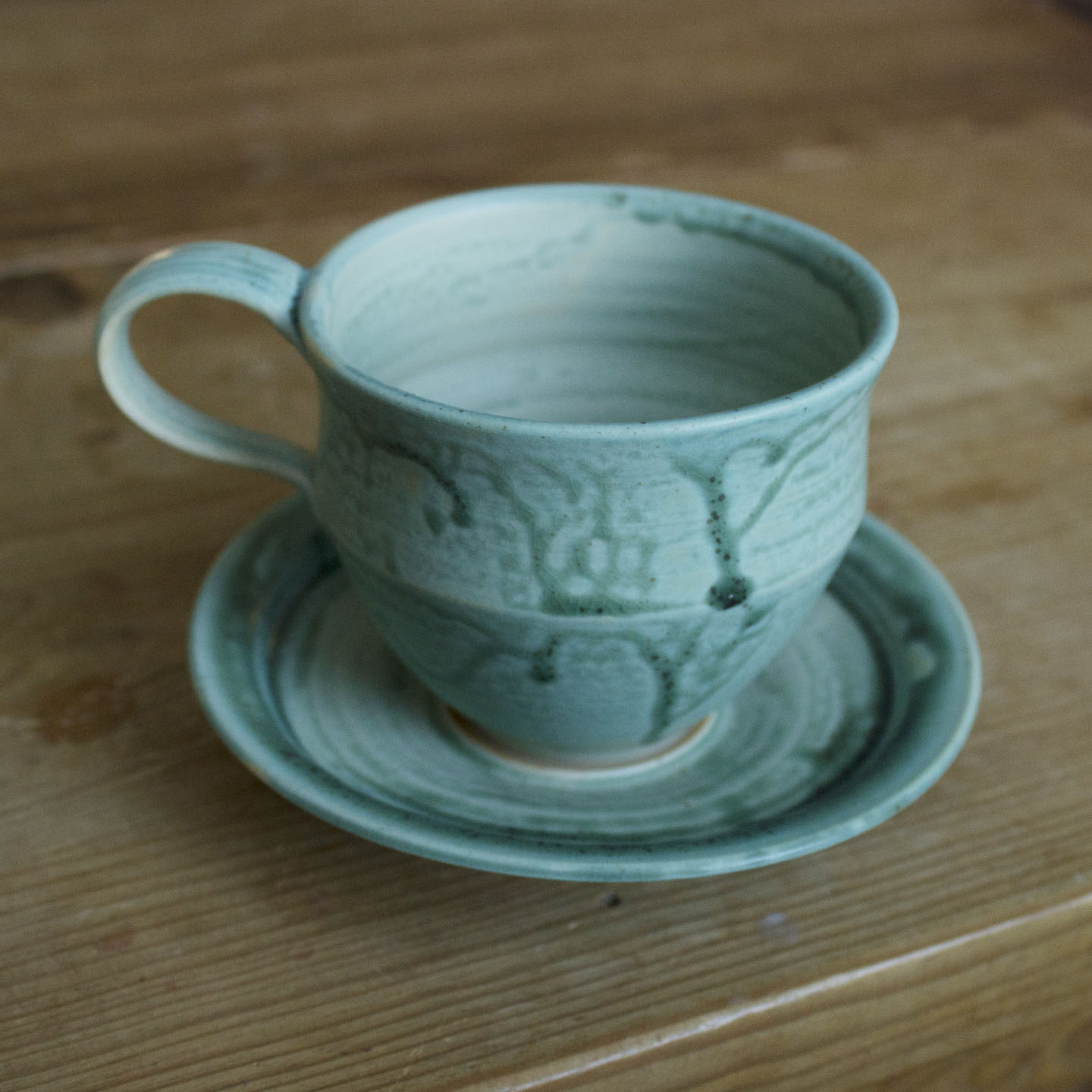 Cup and saucer 007, $35