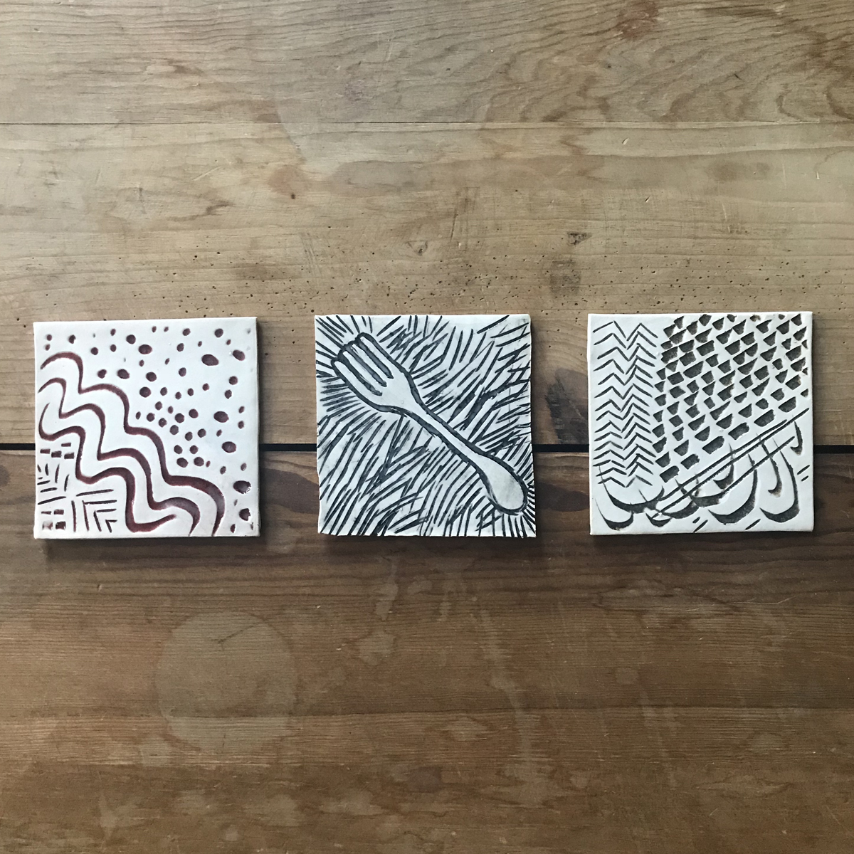 Silly Glaze Test Coasters 053, $2 each