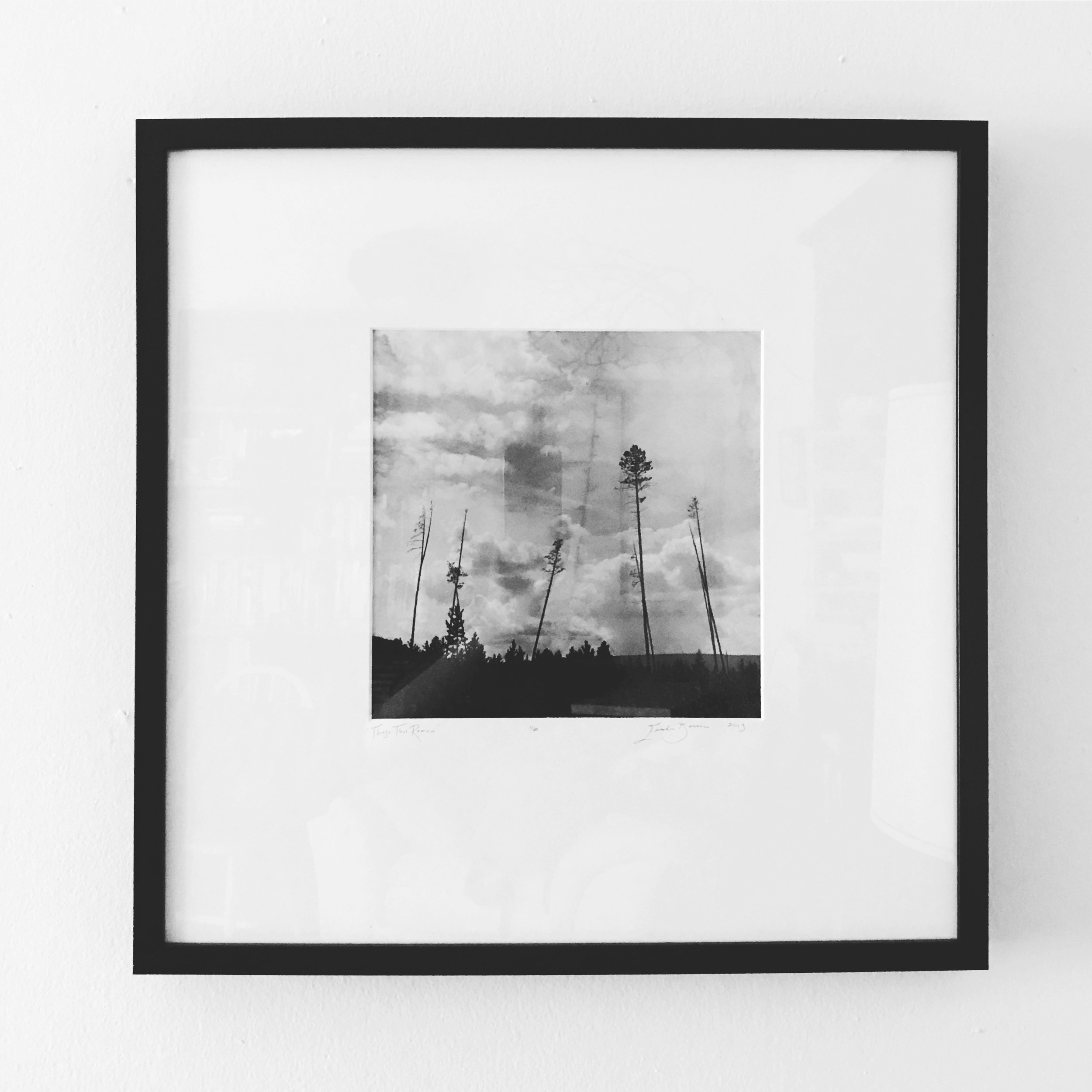 "Those That Remain   Photo gelatin print  Edition of 20 prints  10"" x 10"" print, in a 20"" x 20"" frame and archival matte  SALE!: $150 (Originally $215)"