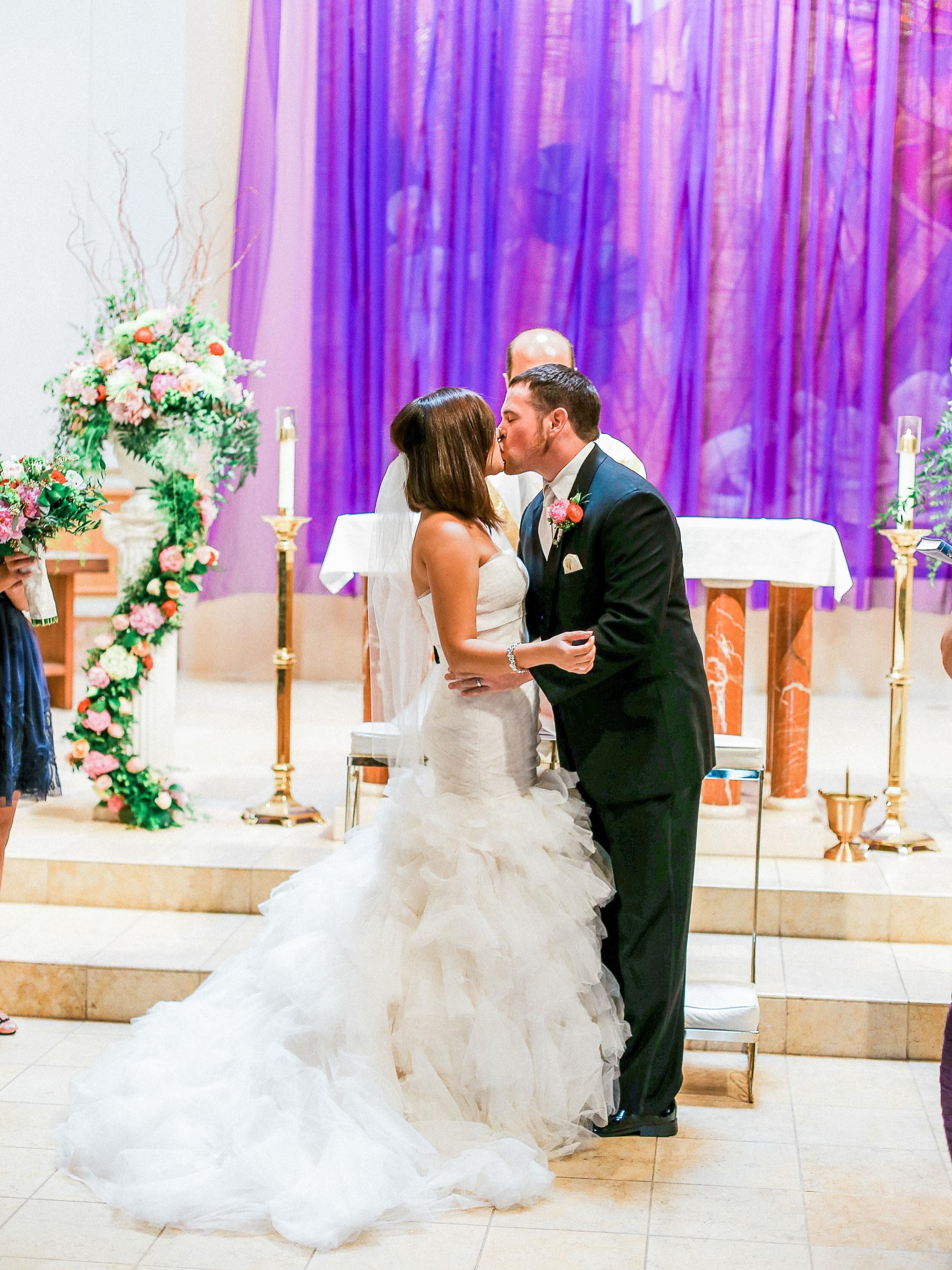 Rose + Nick Wedding at St. Mary Magdalen Church // www.kristalajara.com