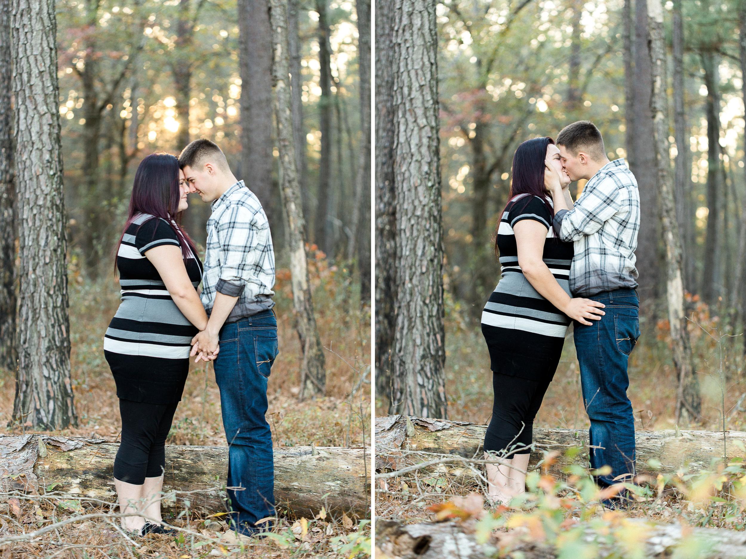 Angela + David at Carvers Creek State Park // www.kristalajara.com
