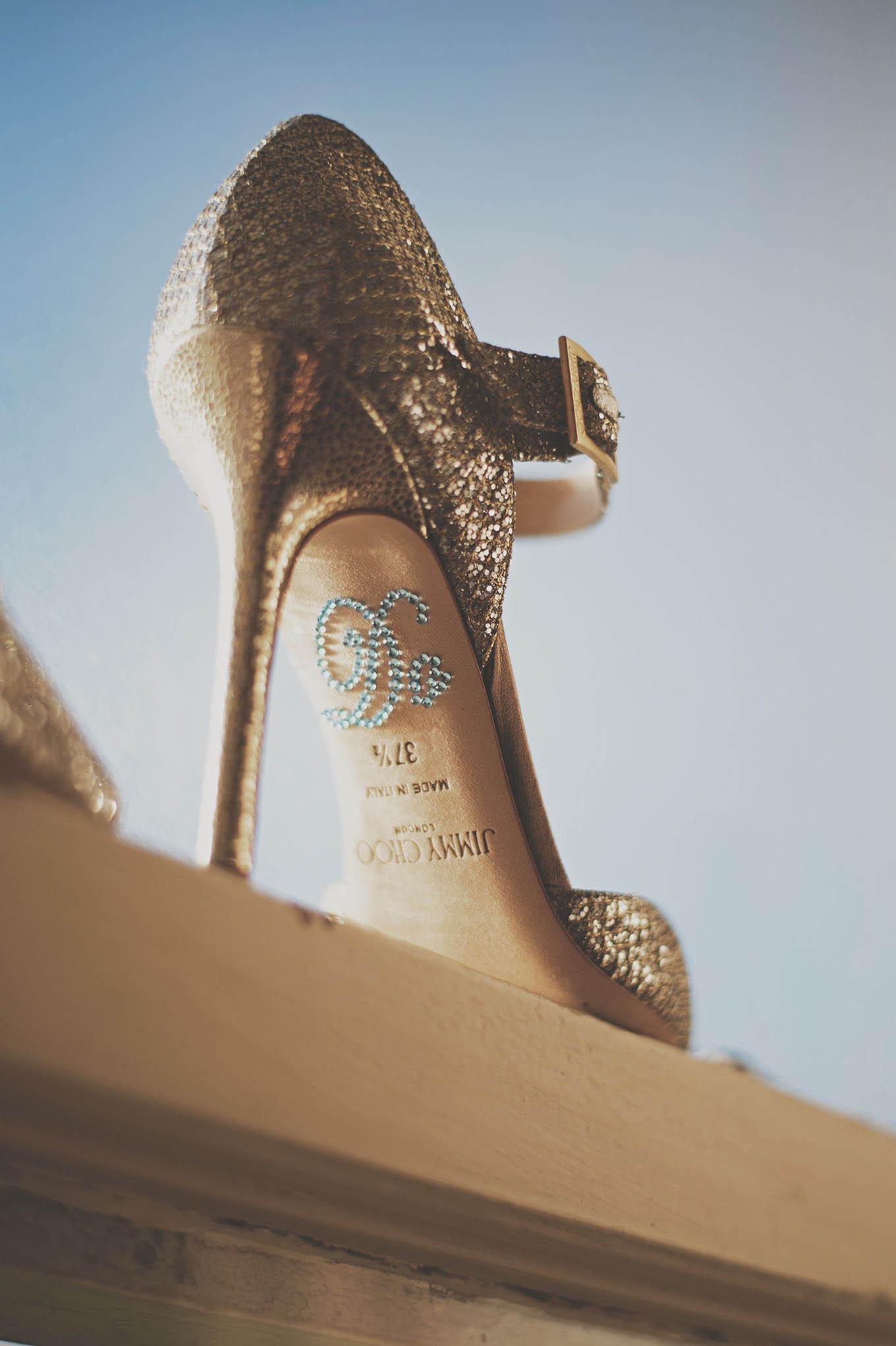 Kilshane House wedding shoe