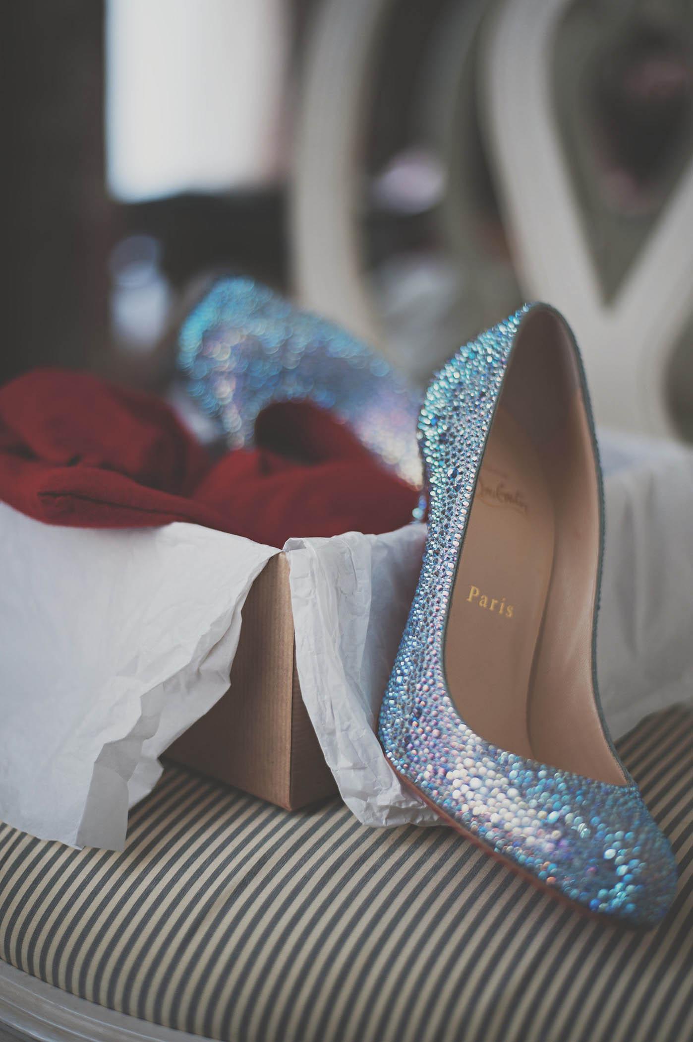 Merrion Hotel wedding, brides shoe