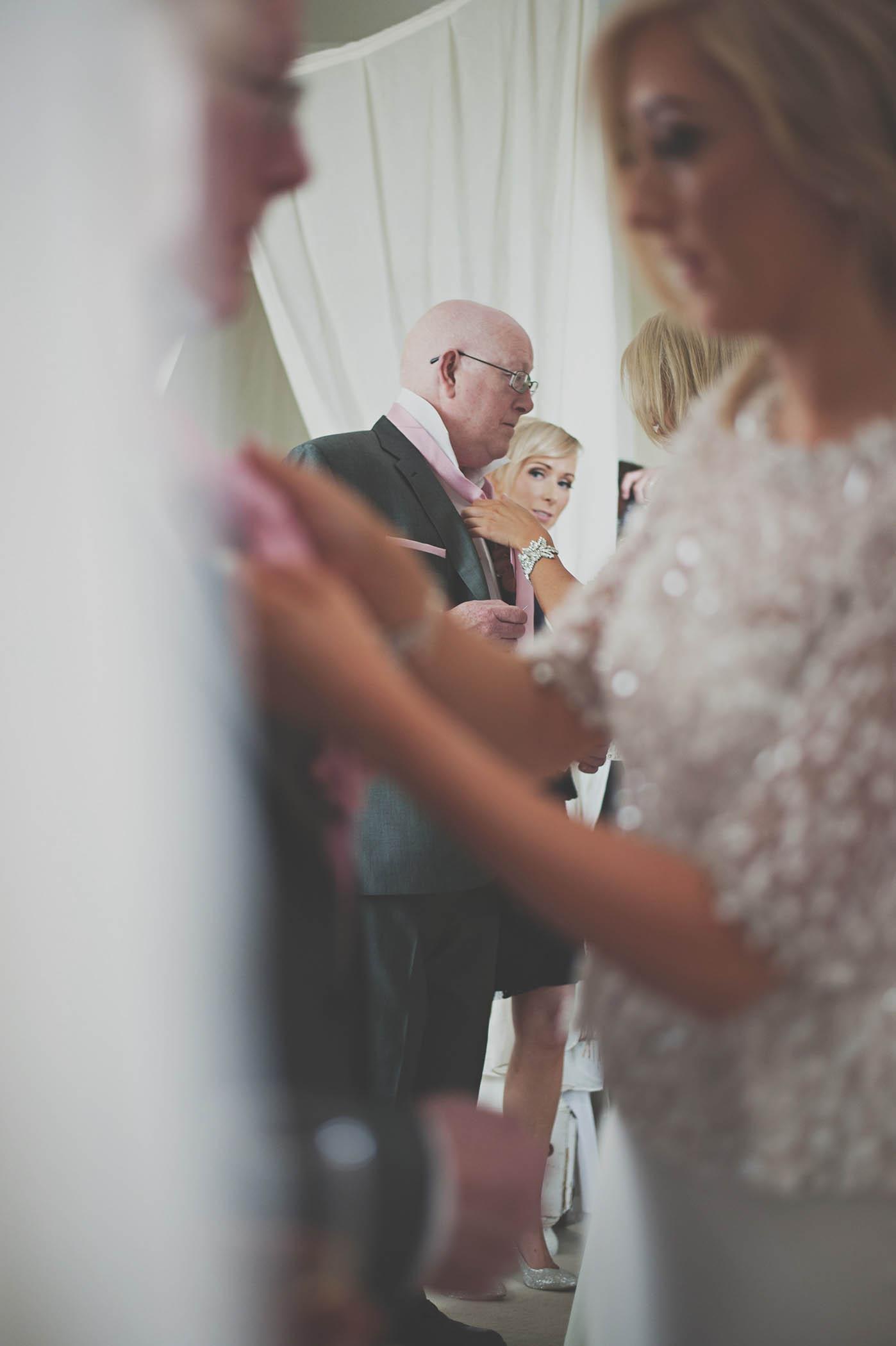 Brooklodge Hotel wedding, bride preparations