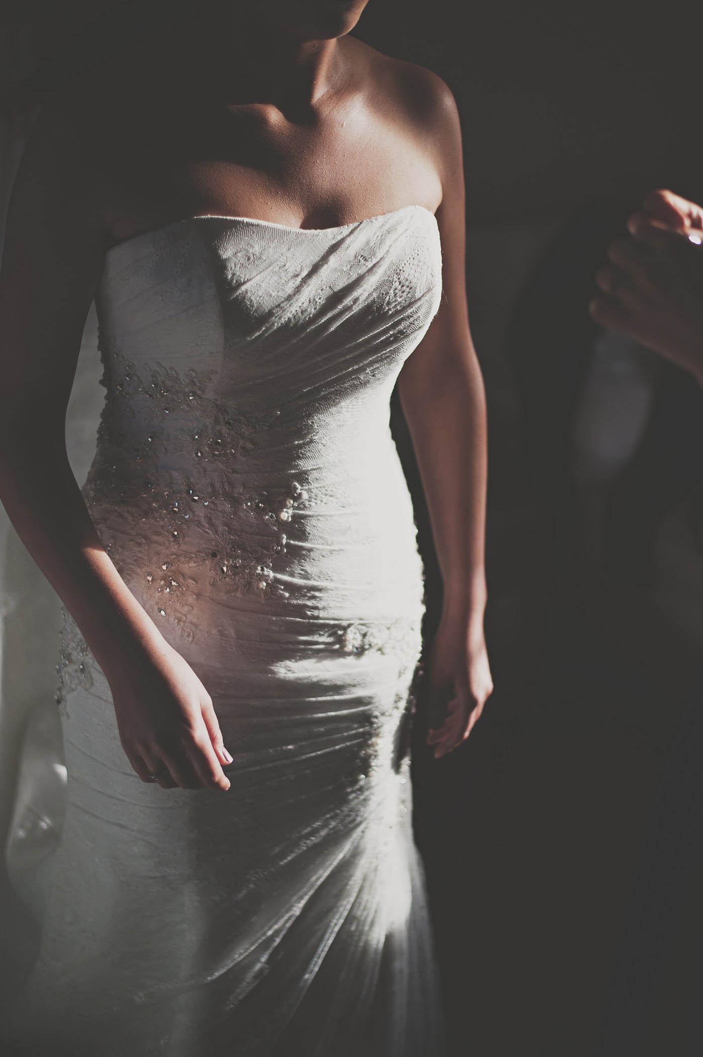 Druids Glen wedding, brides dress 2014