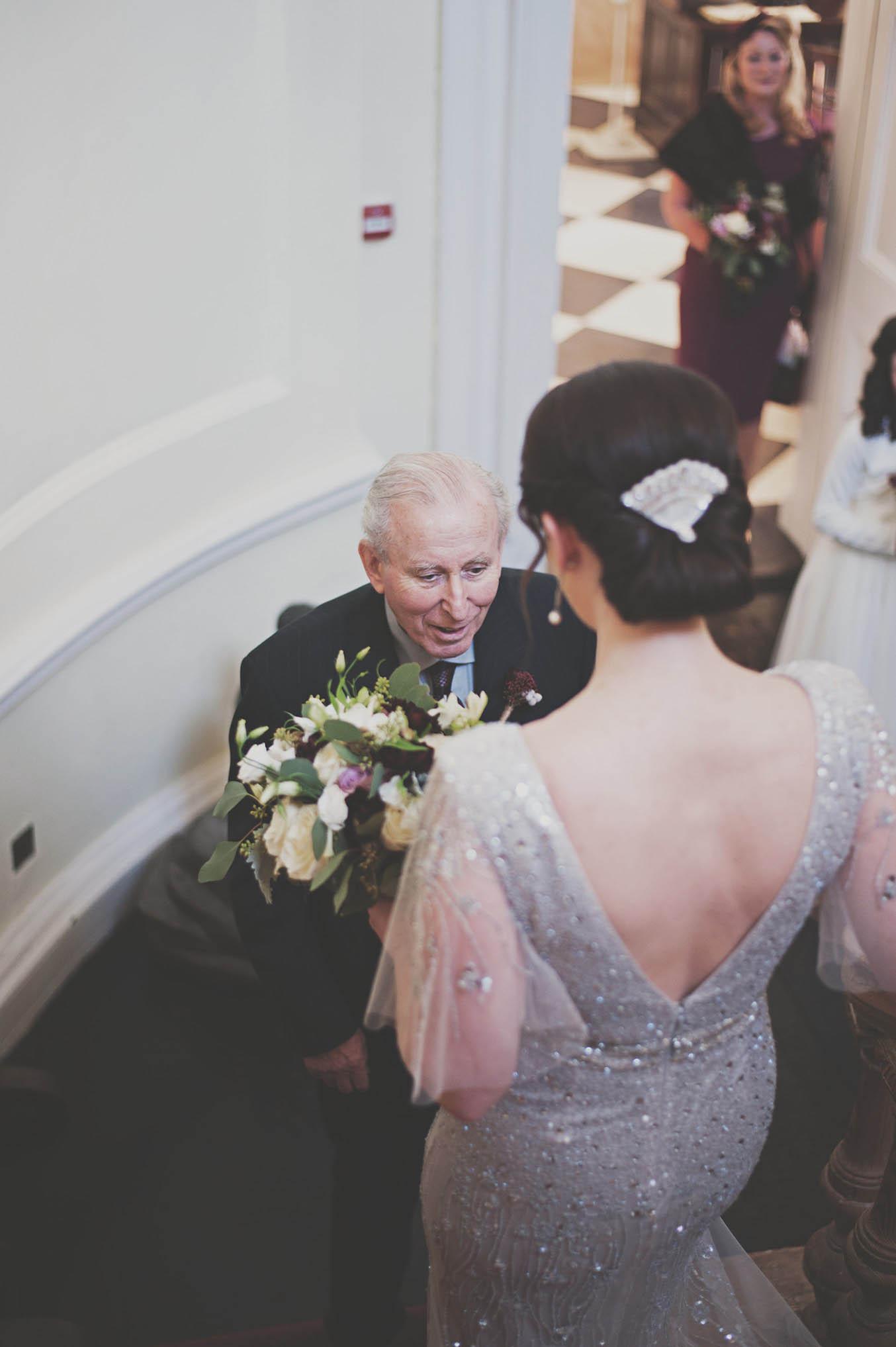 Bellinter House wedding, brides dress