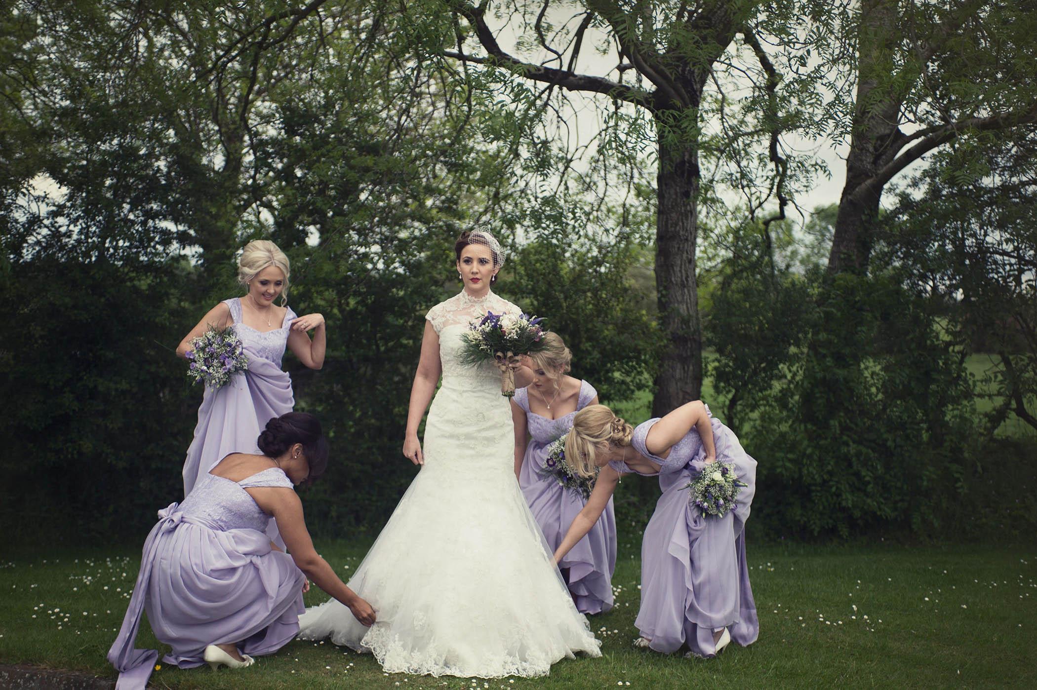 Druids Glen wedding, bride and bridesmaids