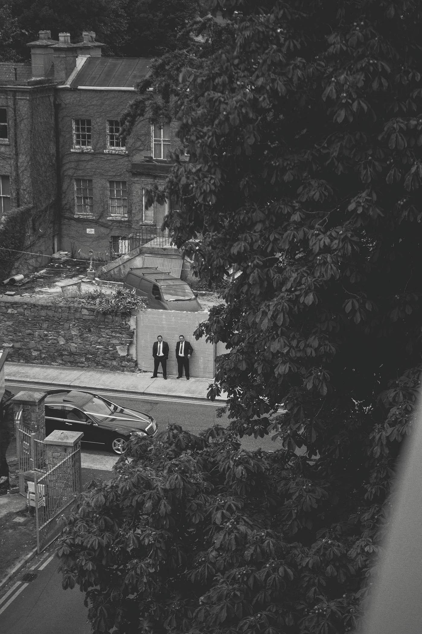 Fallon & Byrne Wedding 2014, Far away shot of groom