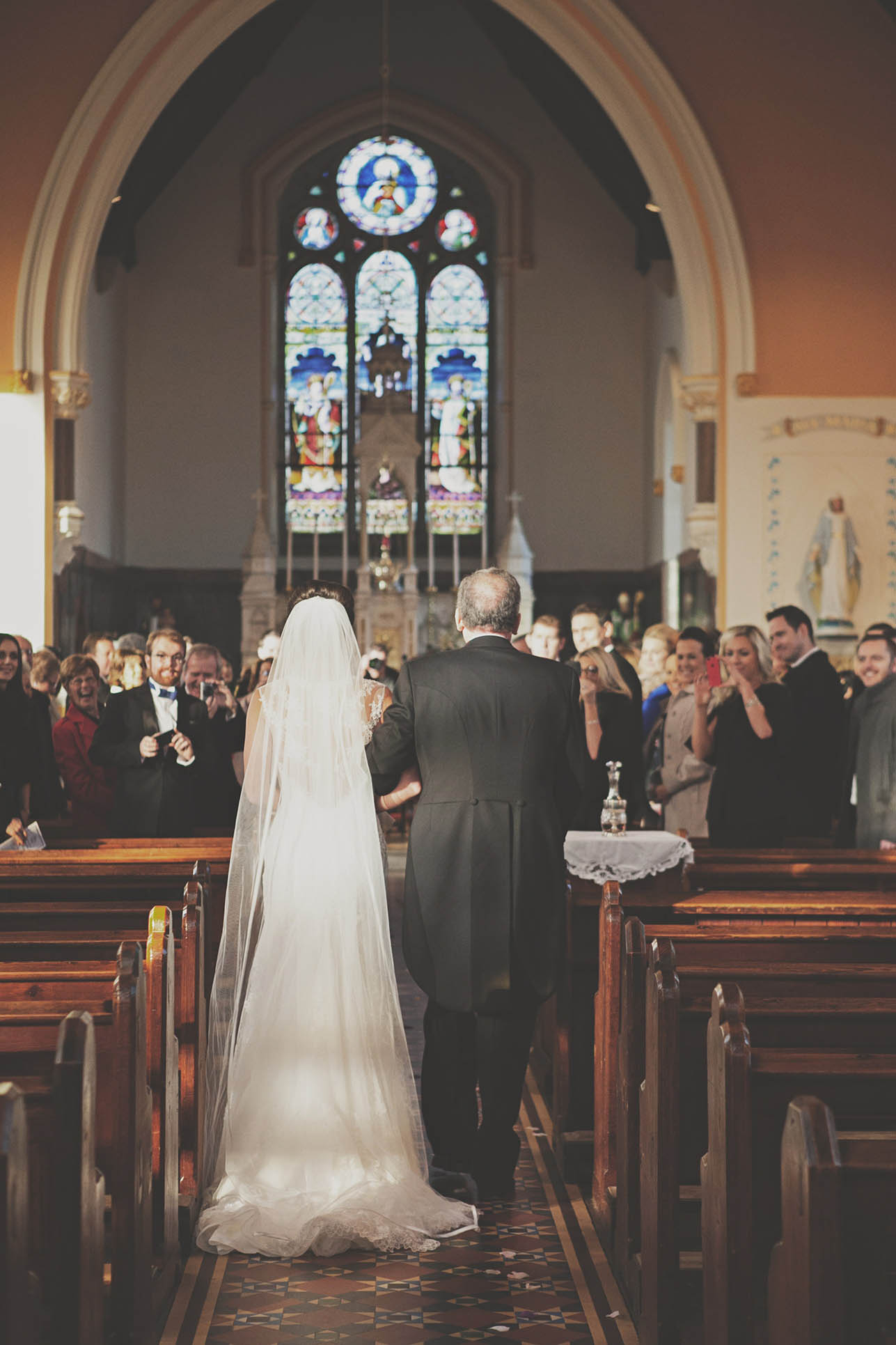 Aughrim Church wedding, Here comes the bride 2014