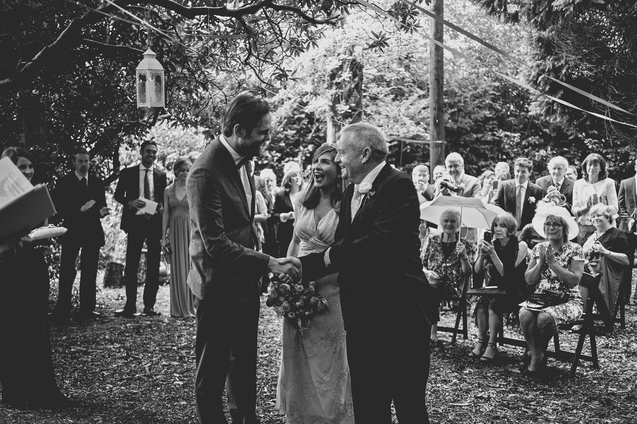 Trudder Lodge outdoor wedding 2014