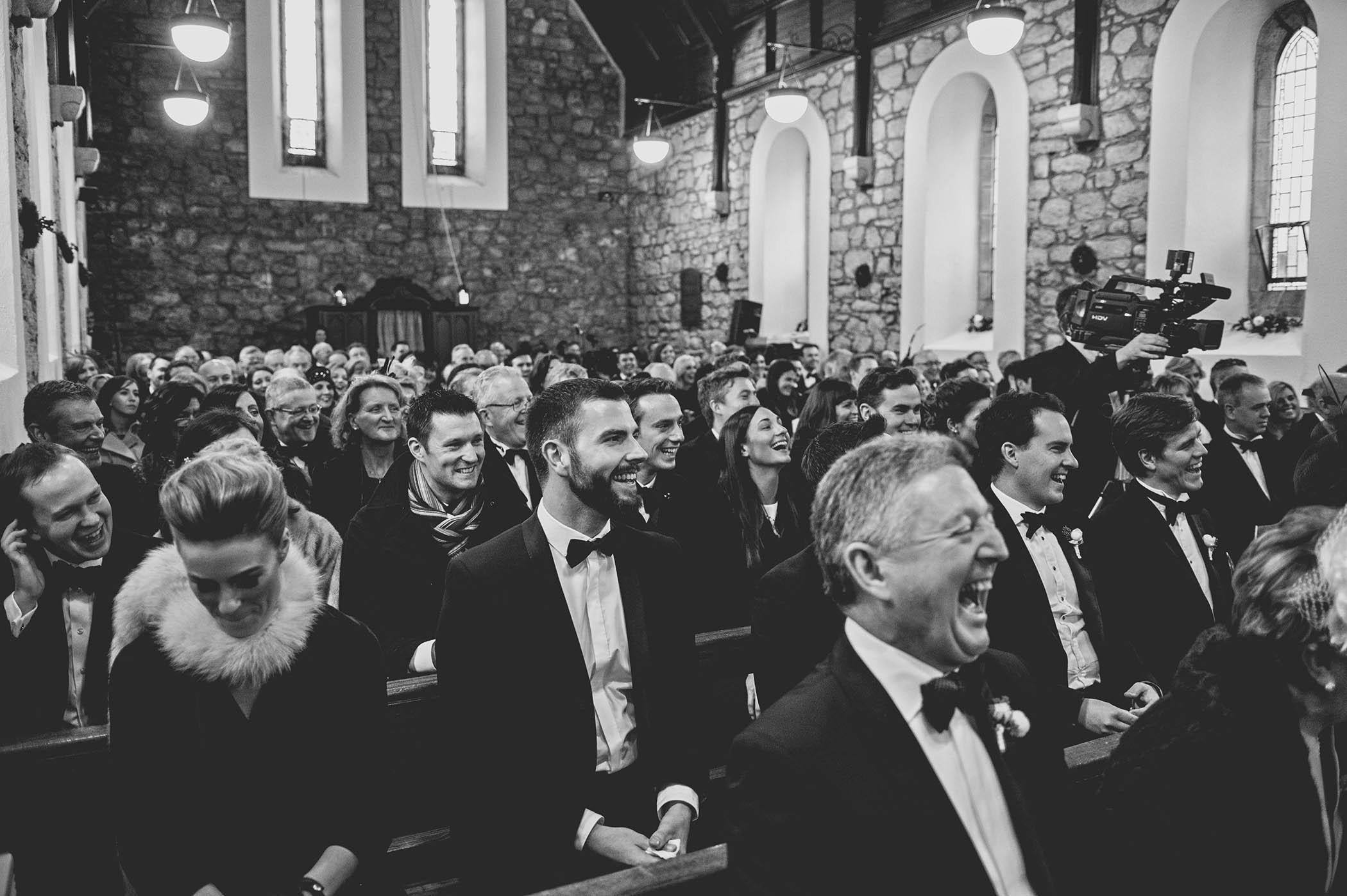 Powerscourt House wedding congregation 2014