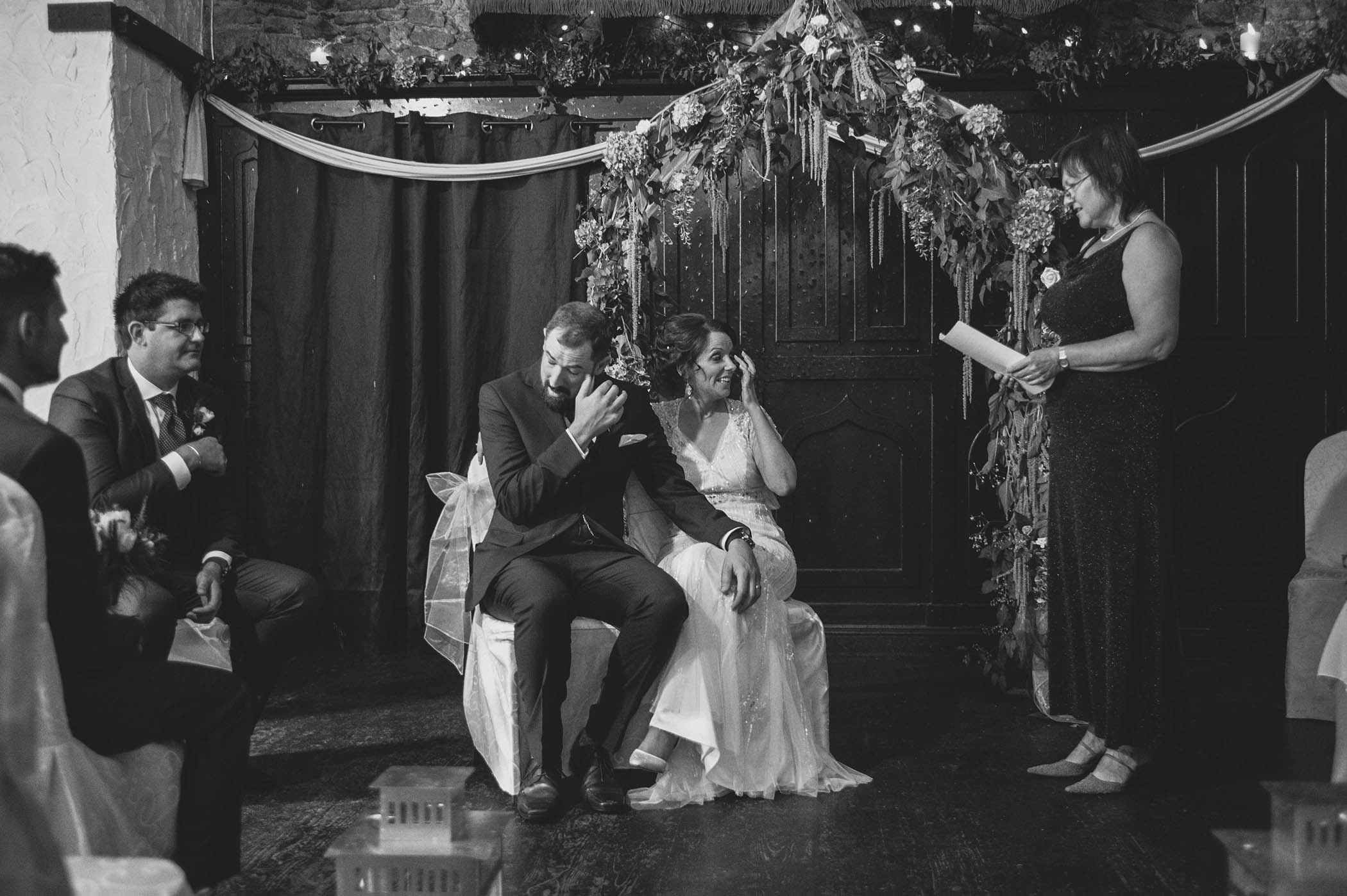 Kinnity Castle Wedding, tears of joy 2014