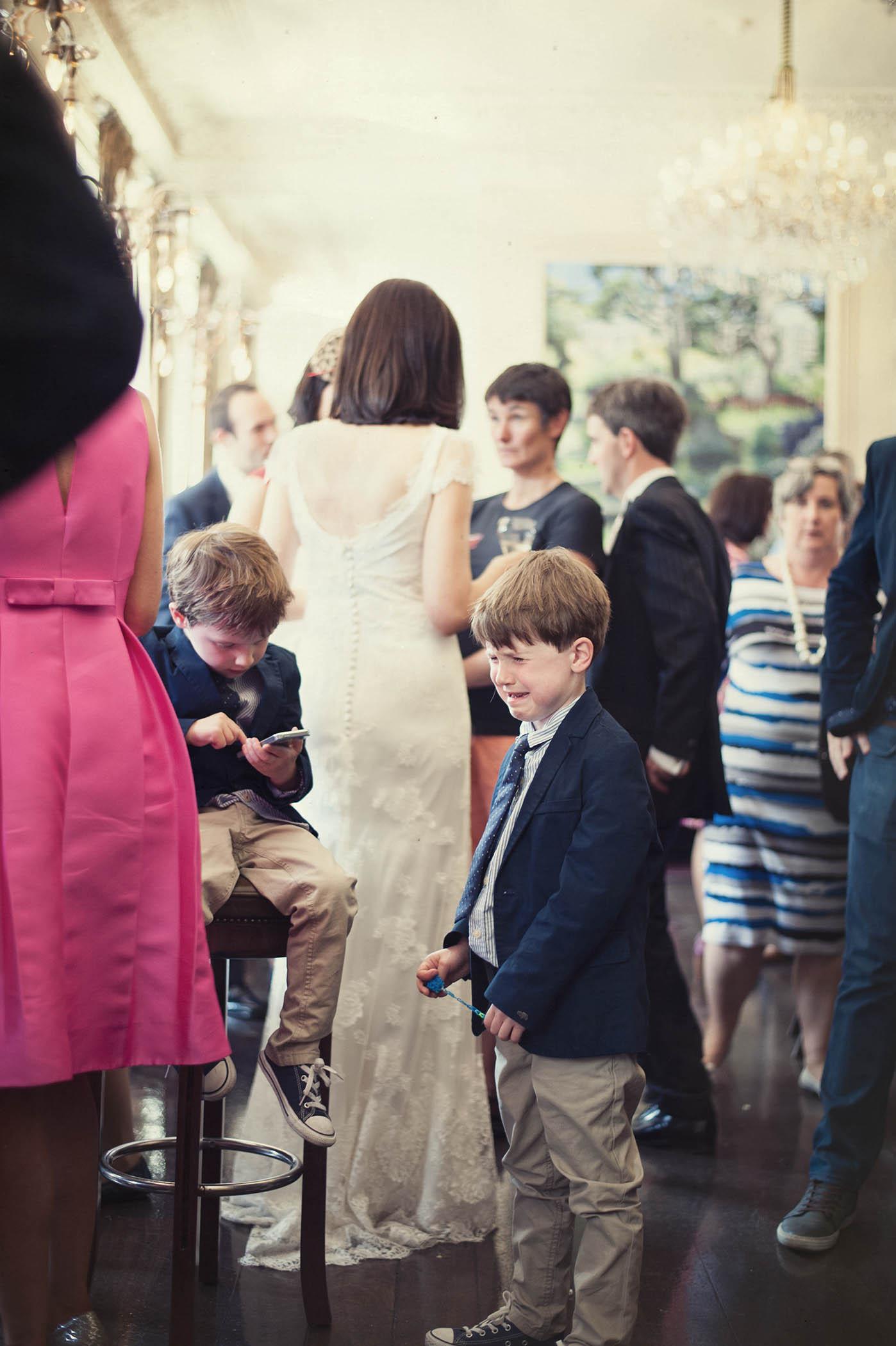Fallon and Byrne wedding, children at wedding
