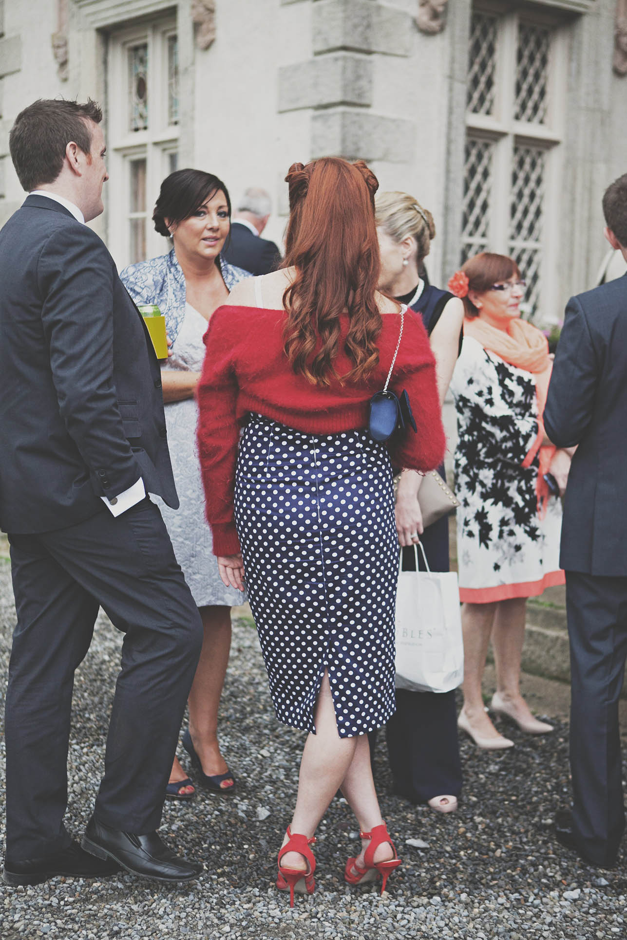 Funky stylish outfit at Borris House wedding