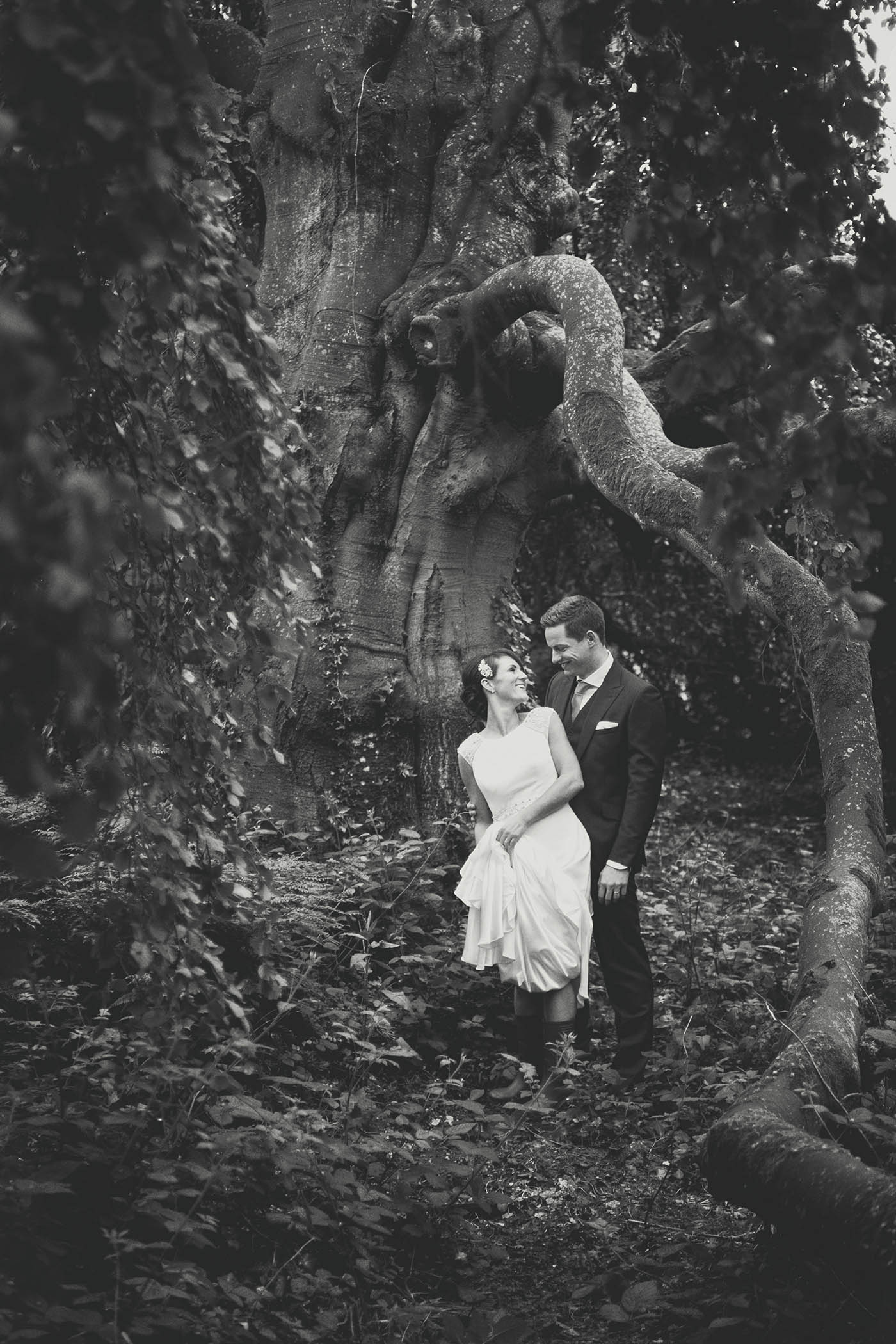 Bride and groom at Bellinter House