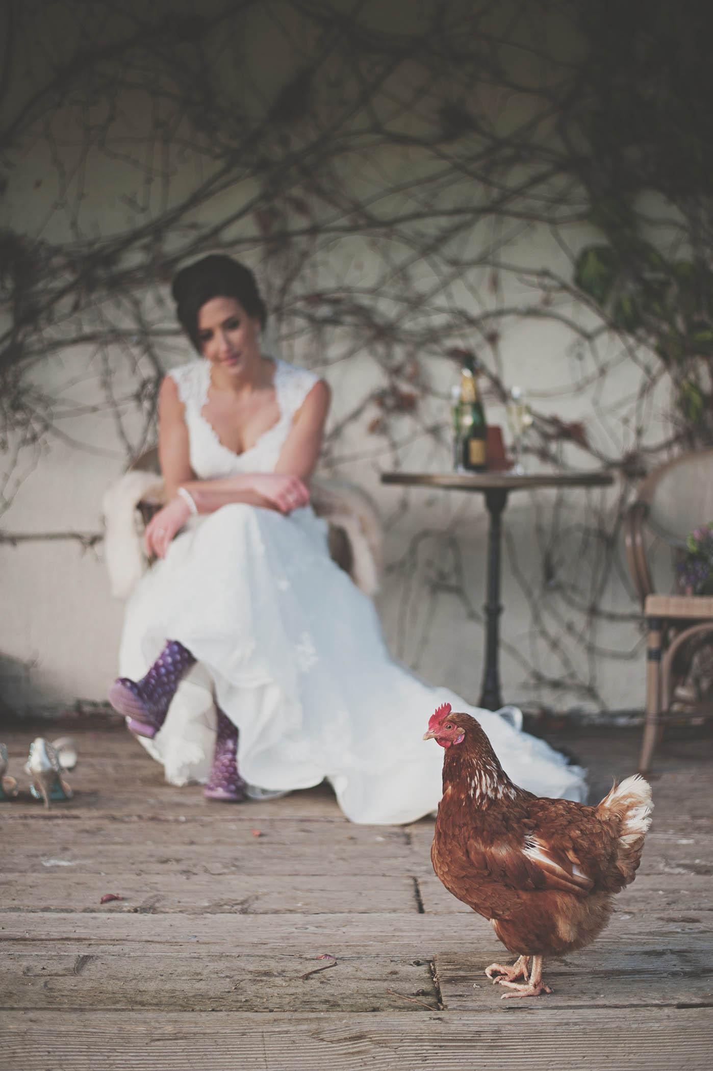 Brooklodge wedding, bride and hen