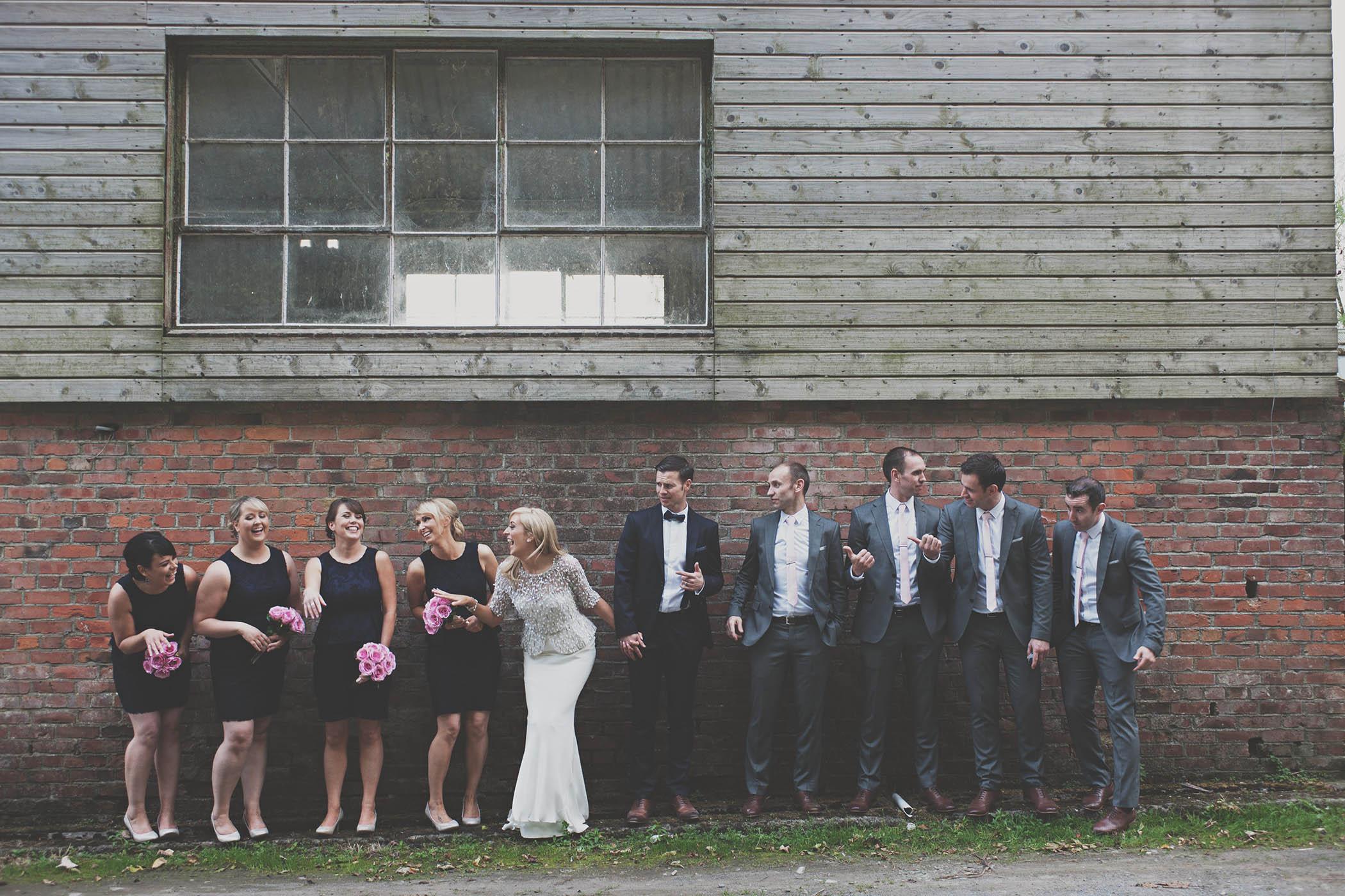 Millhouse, Slane Wedding group shot by Fionn McCann