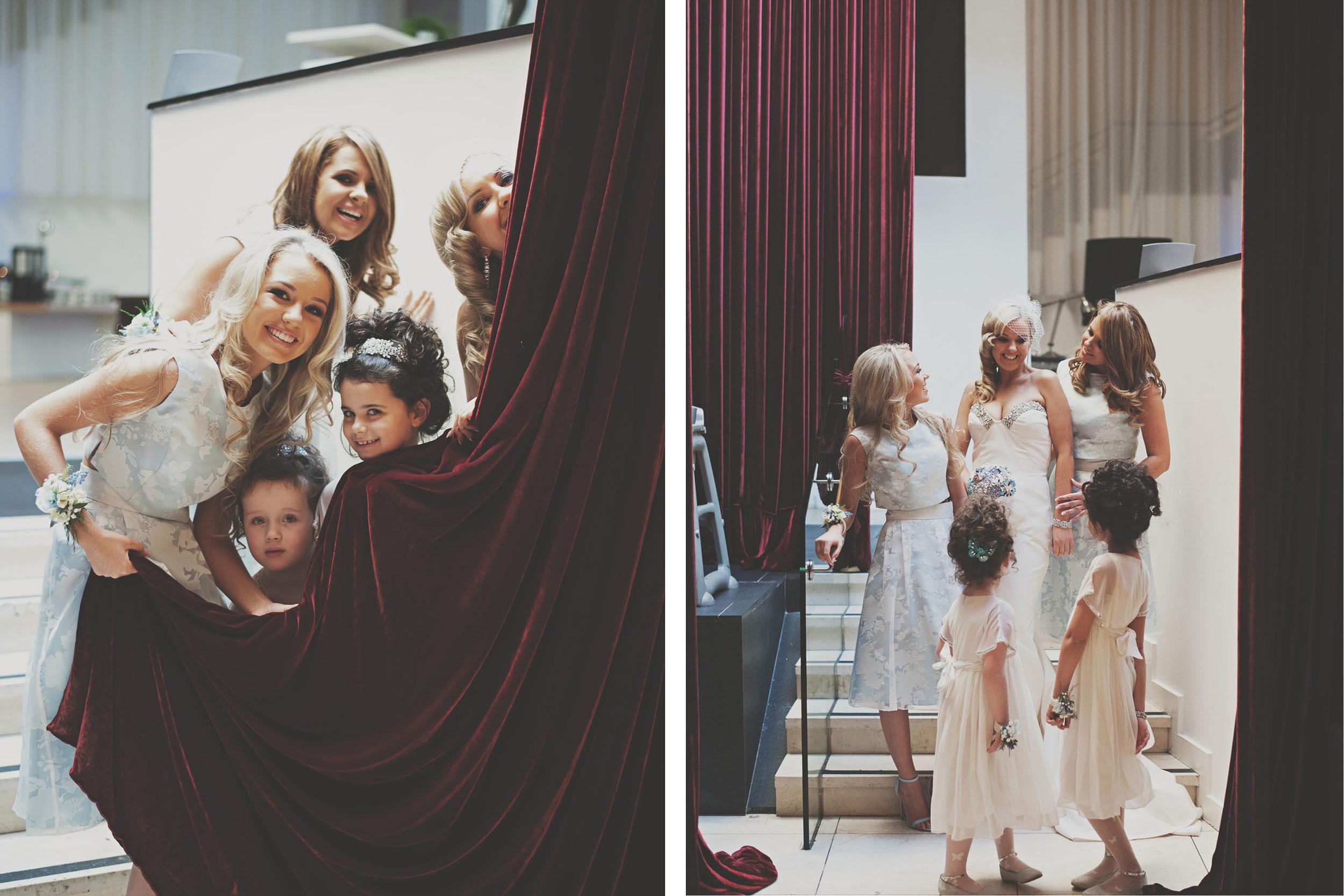 Bridal party frolics