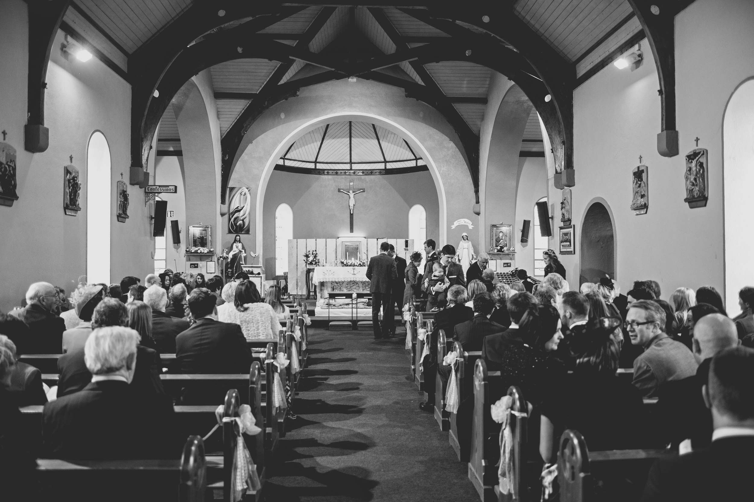 Guests in church Spanish Point
