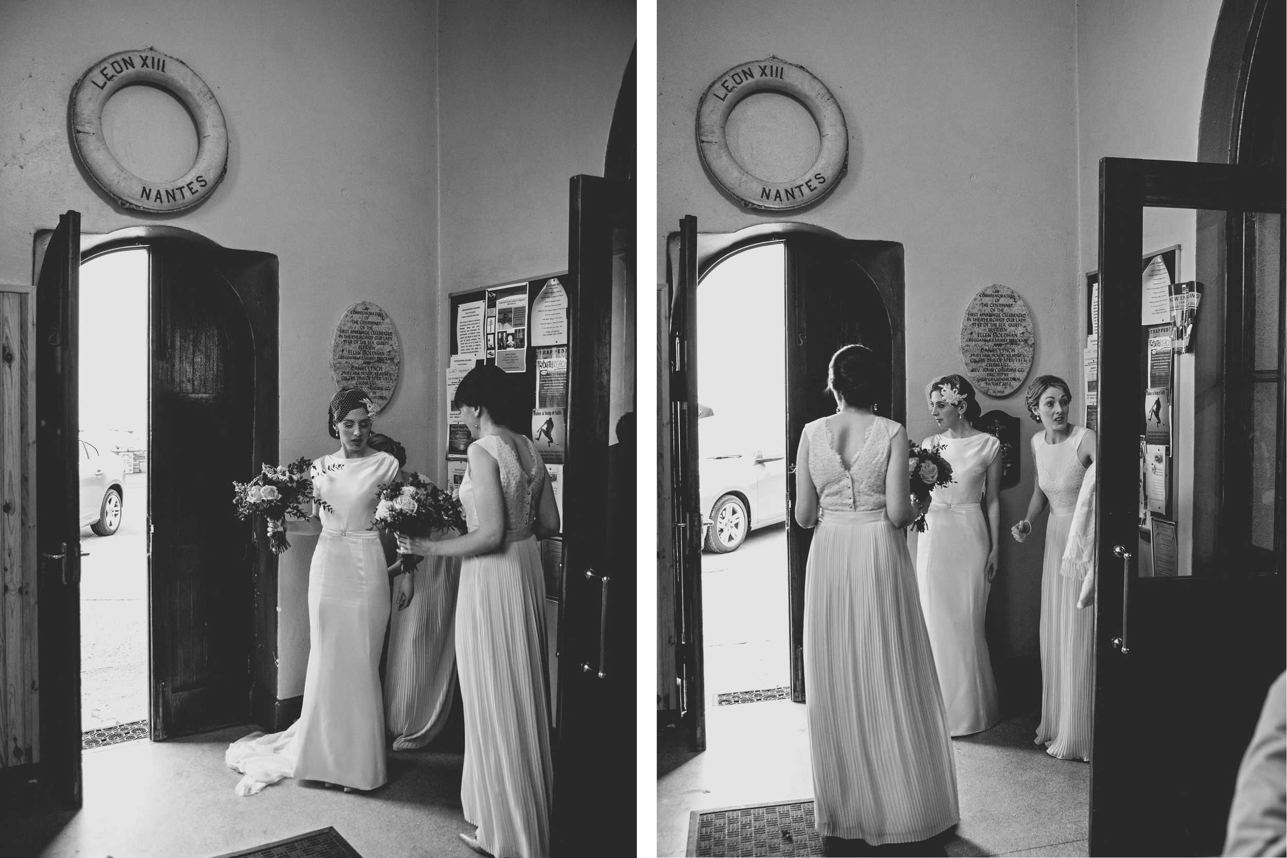 Brides ready to go to the church