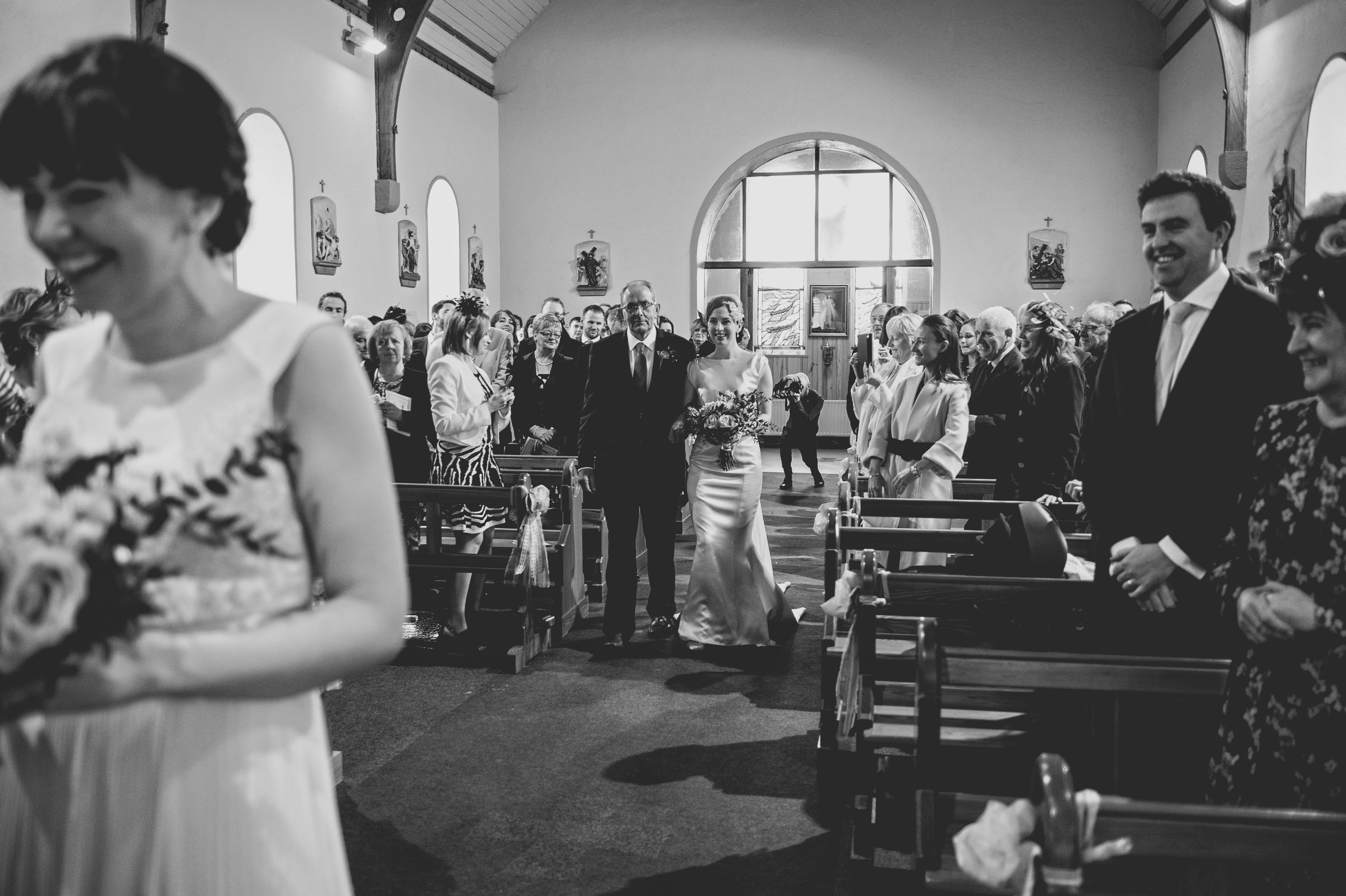 Walking up the aisle