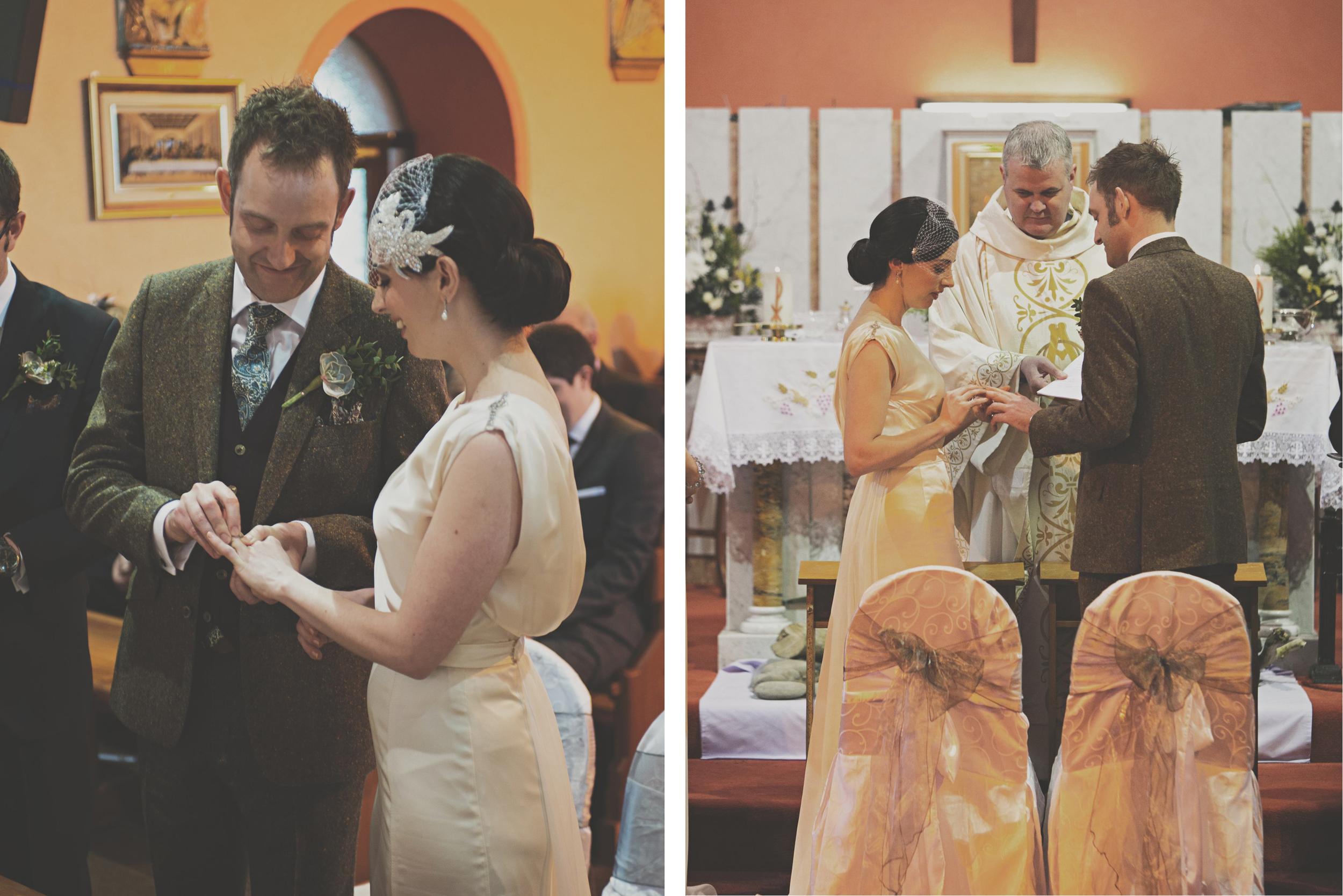 Exchanging rings at wedding