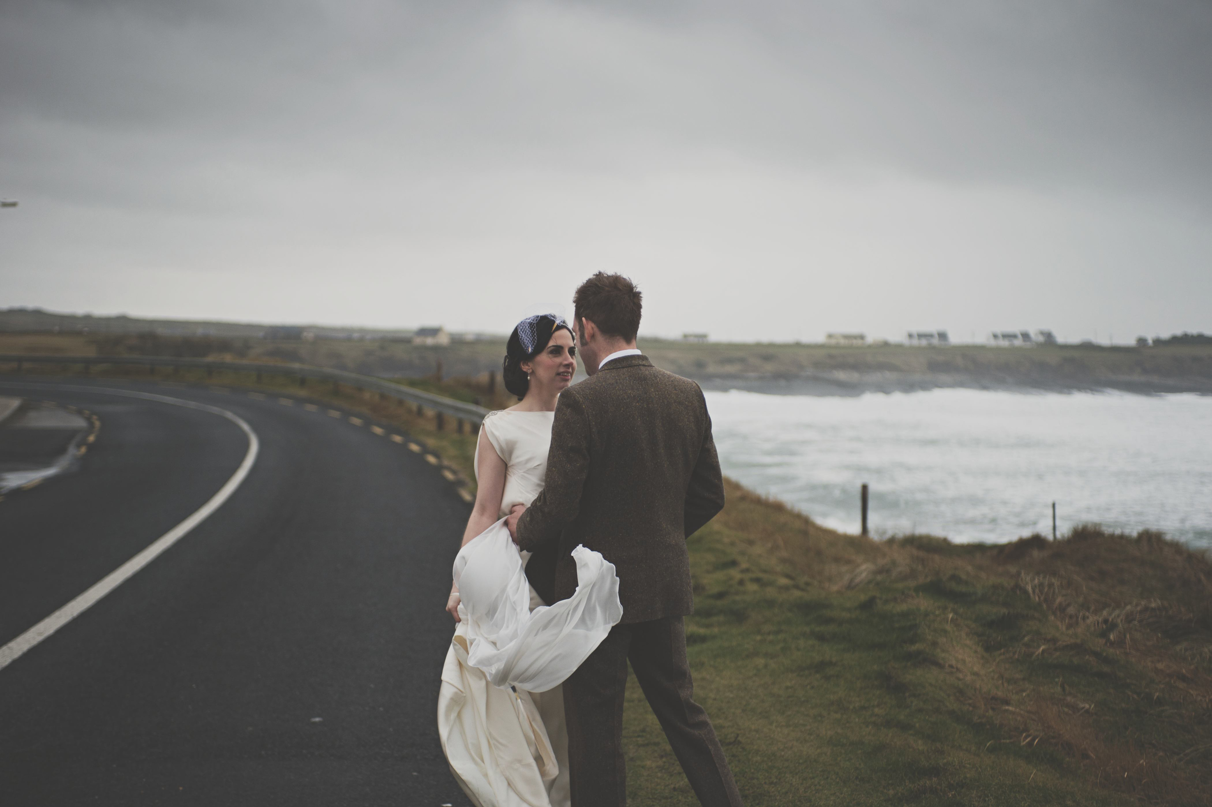 Couple on coast road Spanish Point