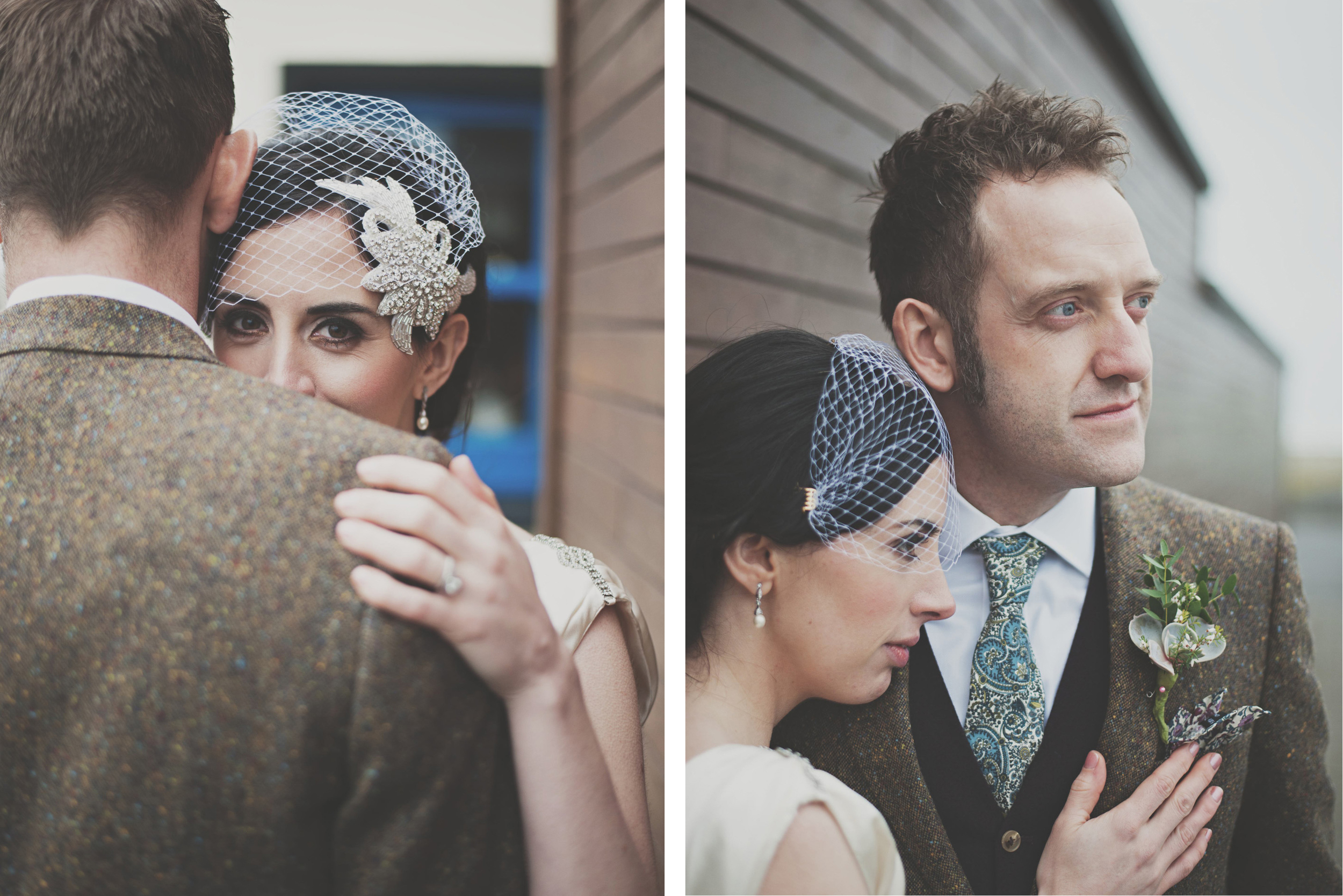 different angles of wedding couple