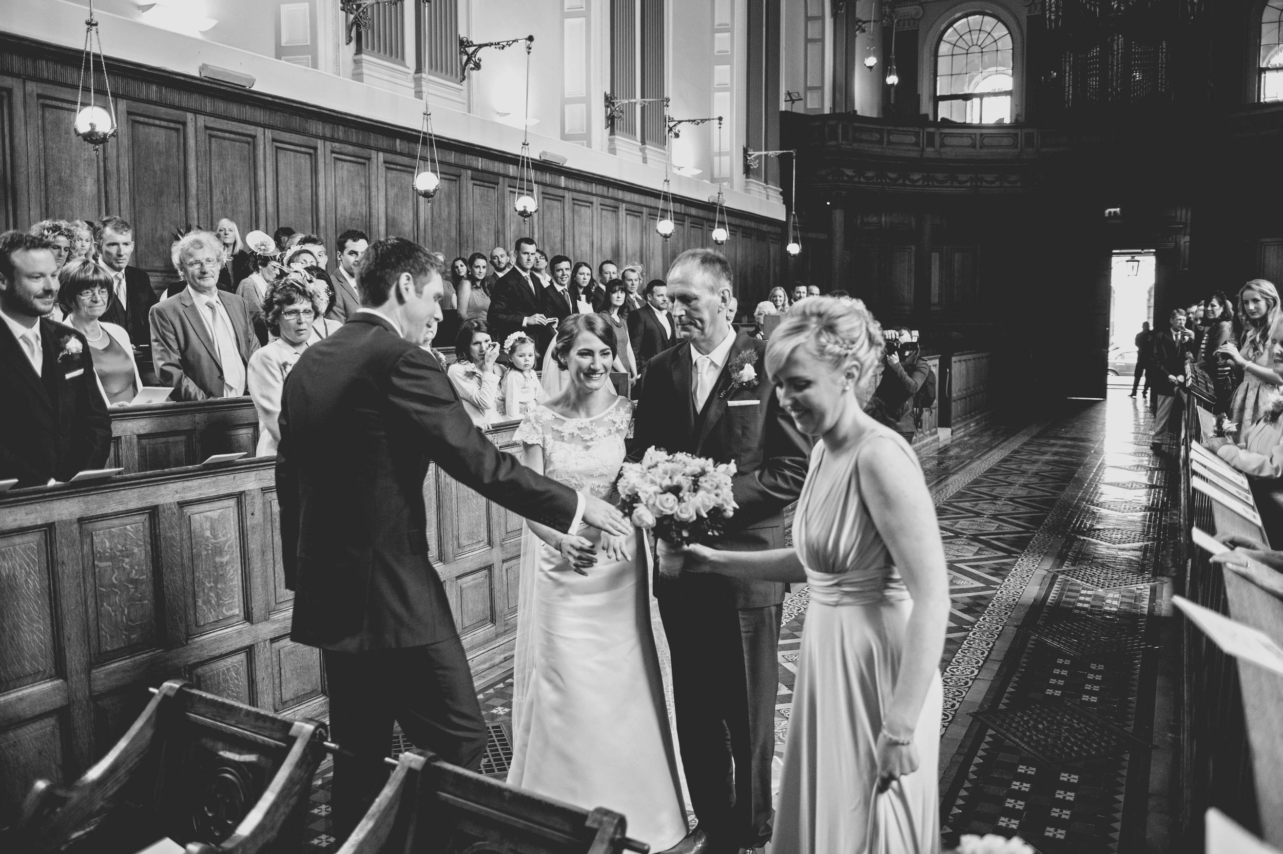Wedding service at Trinity Chapel Dublin