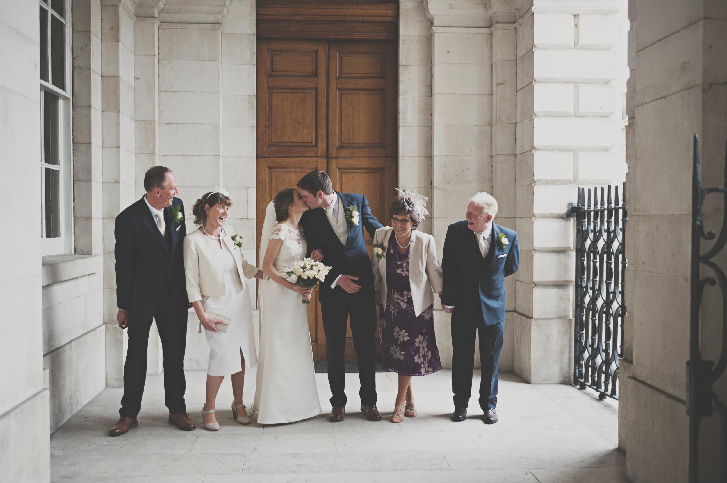 Trinity Chapel Dublin wedding party shot