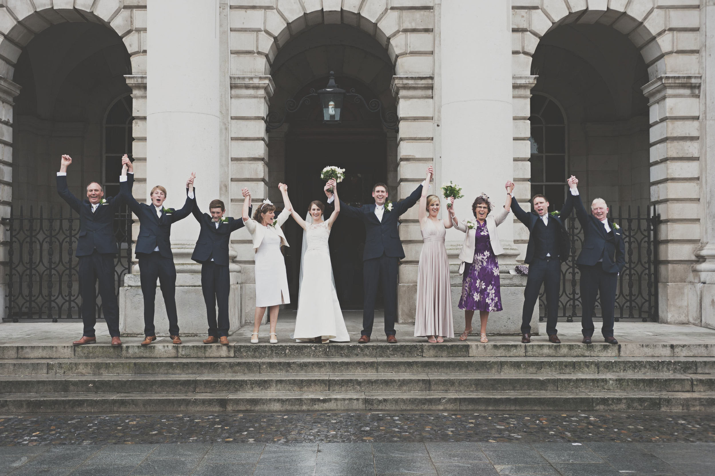 Trinity Chapel Dublin wedding, group shot