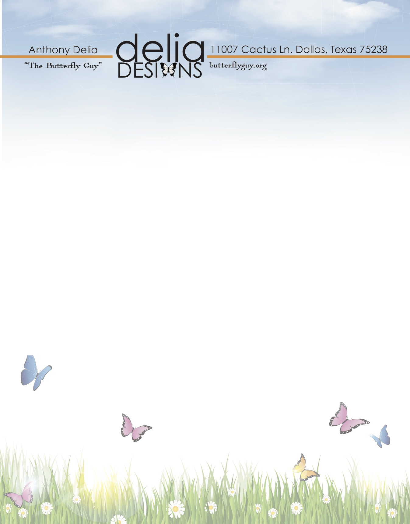 Delia Designs Letterhead