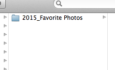 2015 Favorite Photo folder