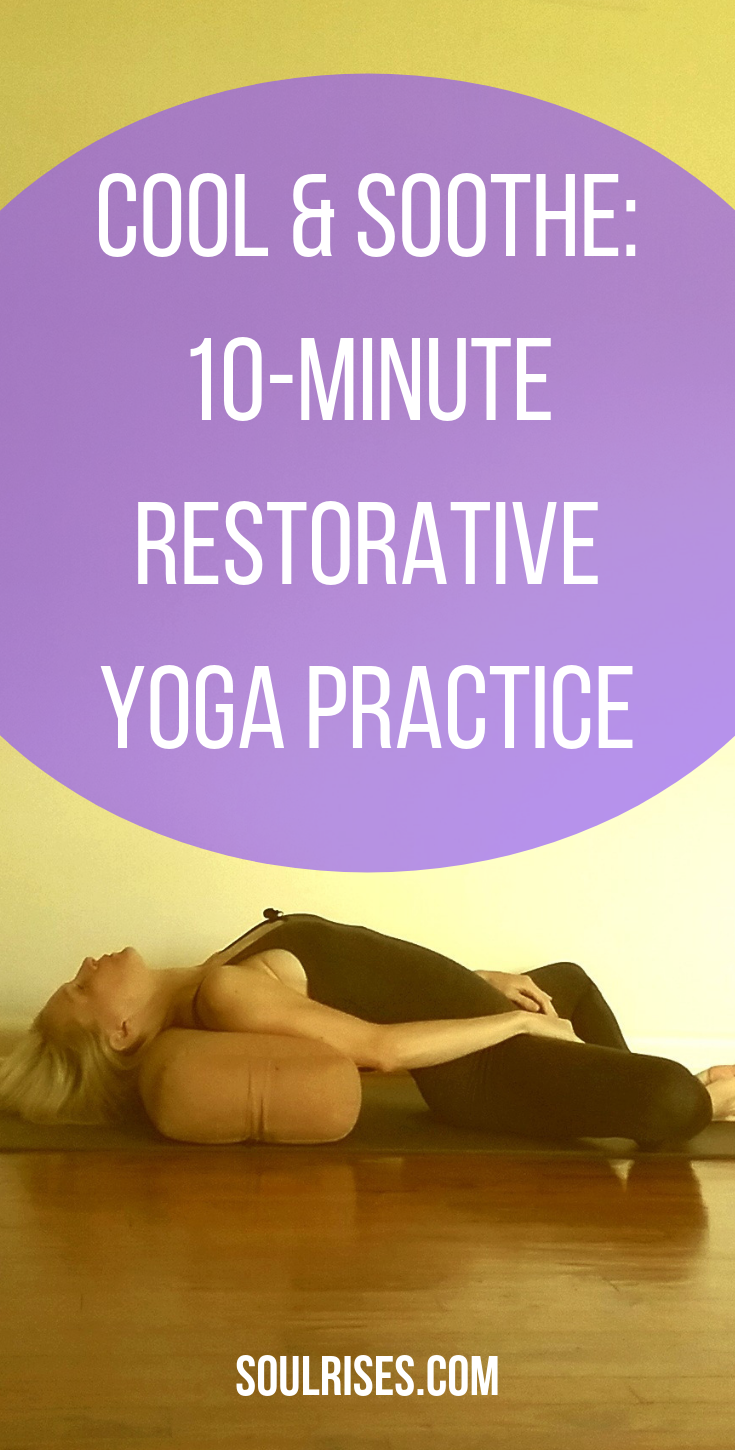 Many of us are getting hot. Whether in mind, body, or emotionally, it might be time for a cool-down. Try this 10-minute restorative yoga practice that adds a secret pranayama ingredient to reduce any kind of flame-up. -