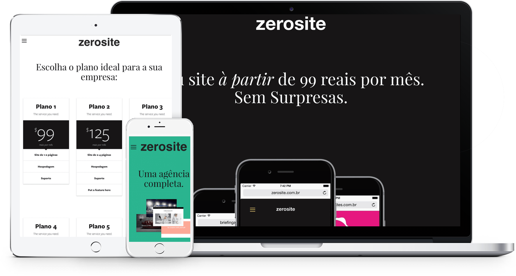 Exemplos de Sites do Squarespace