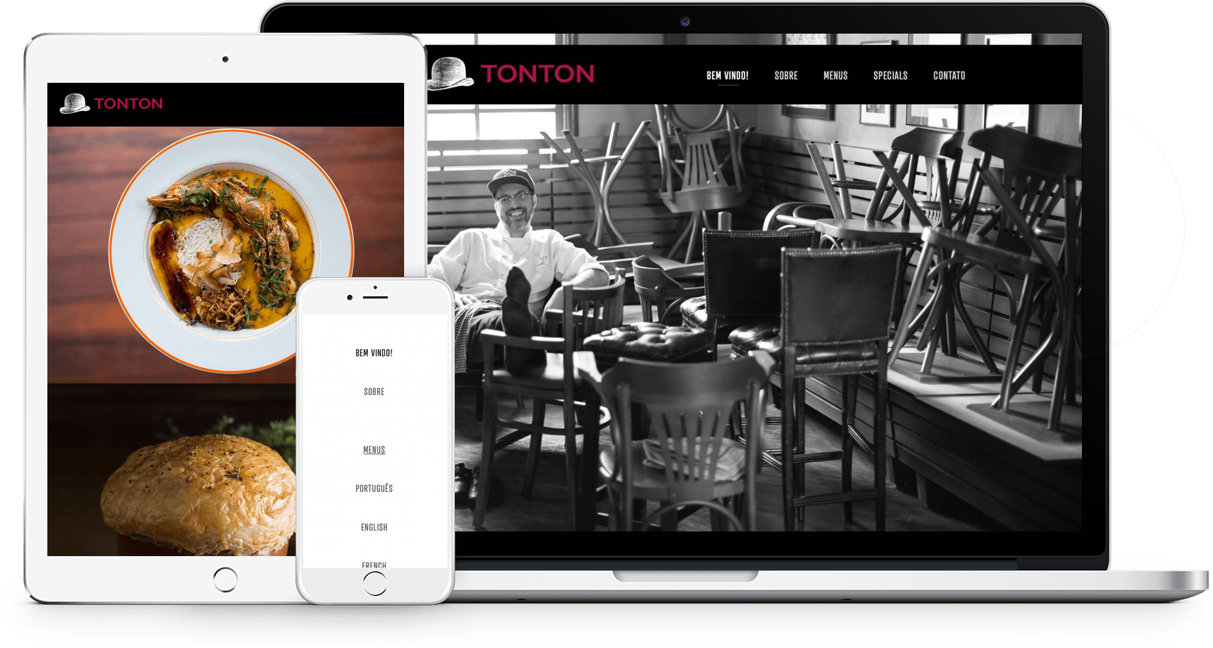 Sites de Restaurantes Squarespace