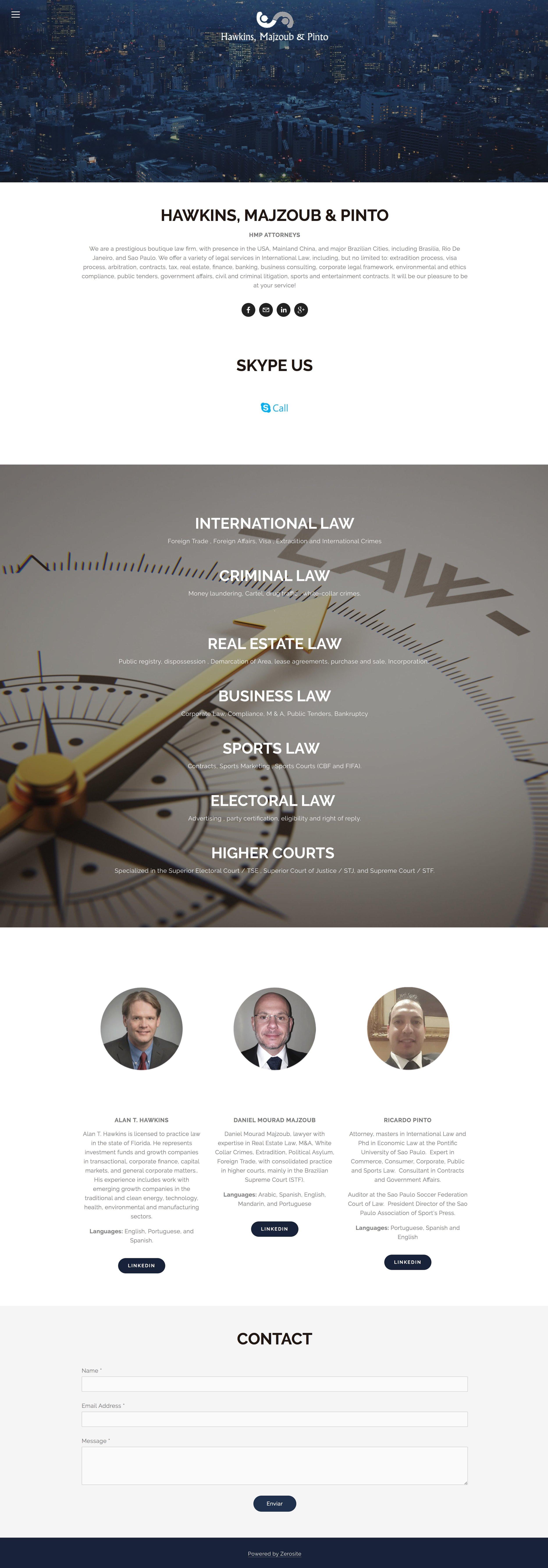 cliente da agencia zerosite HMP advogados
