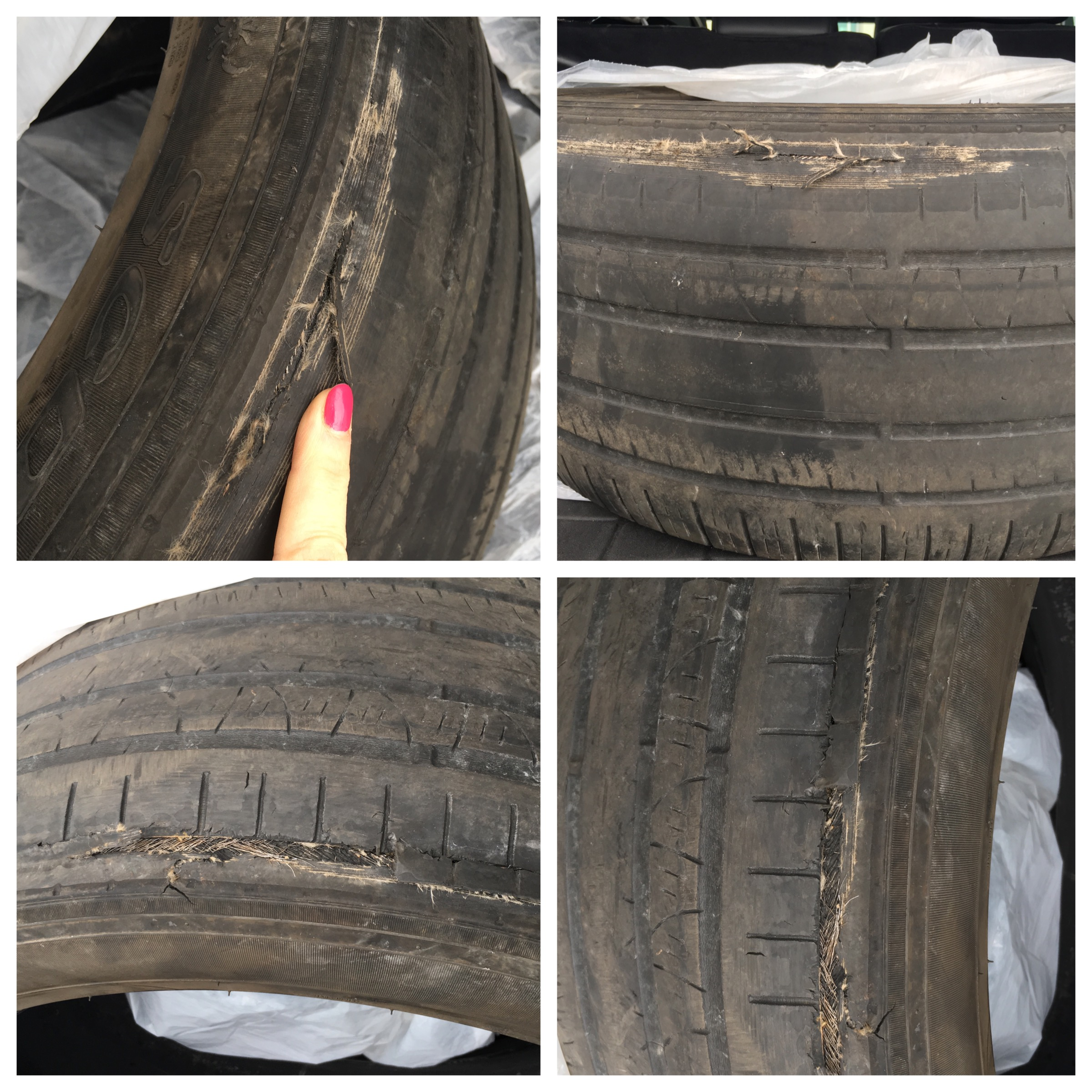 Tire damages.