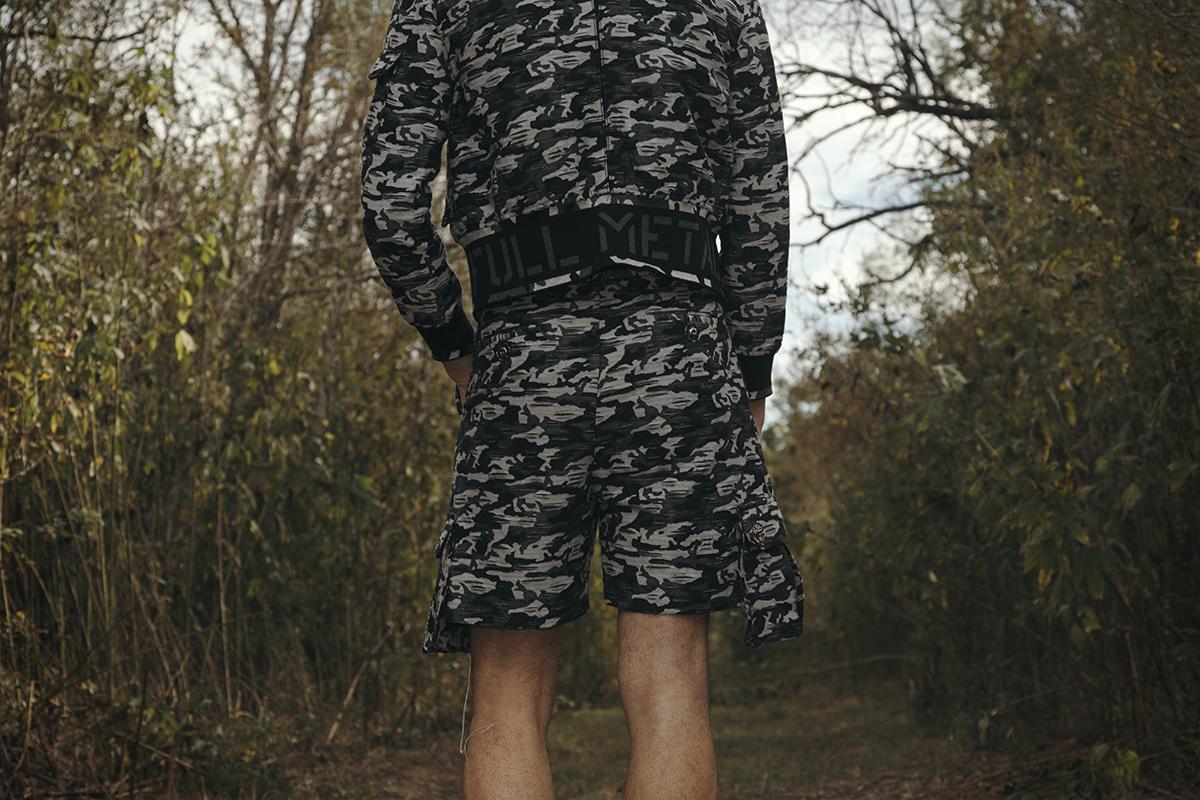shorts and jacket: Kenneth Ning