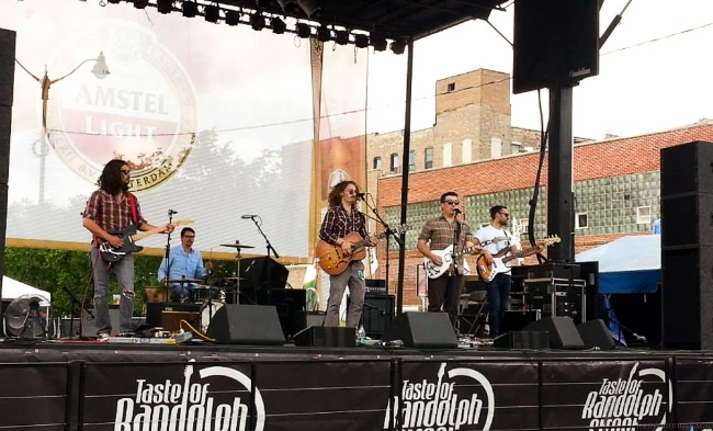 You Me & Apollo playing at the Taste of Randolph street fest, 6.16.13